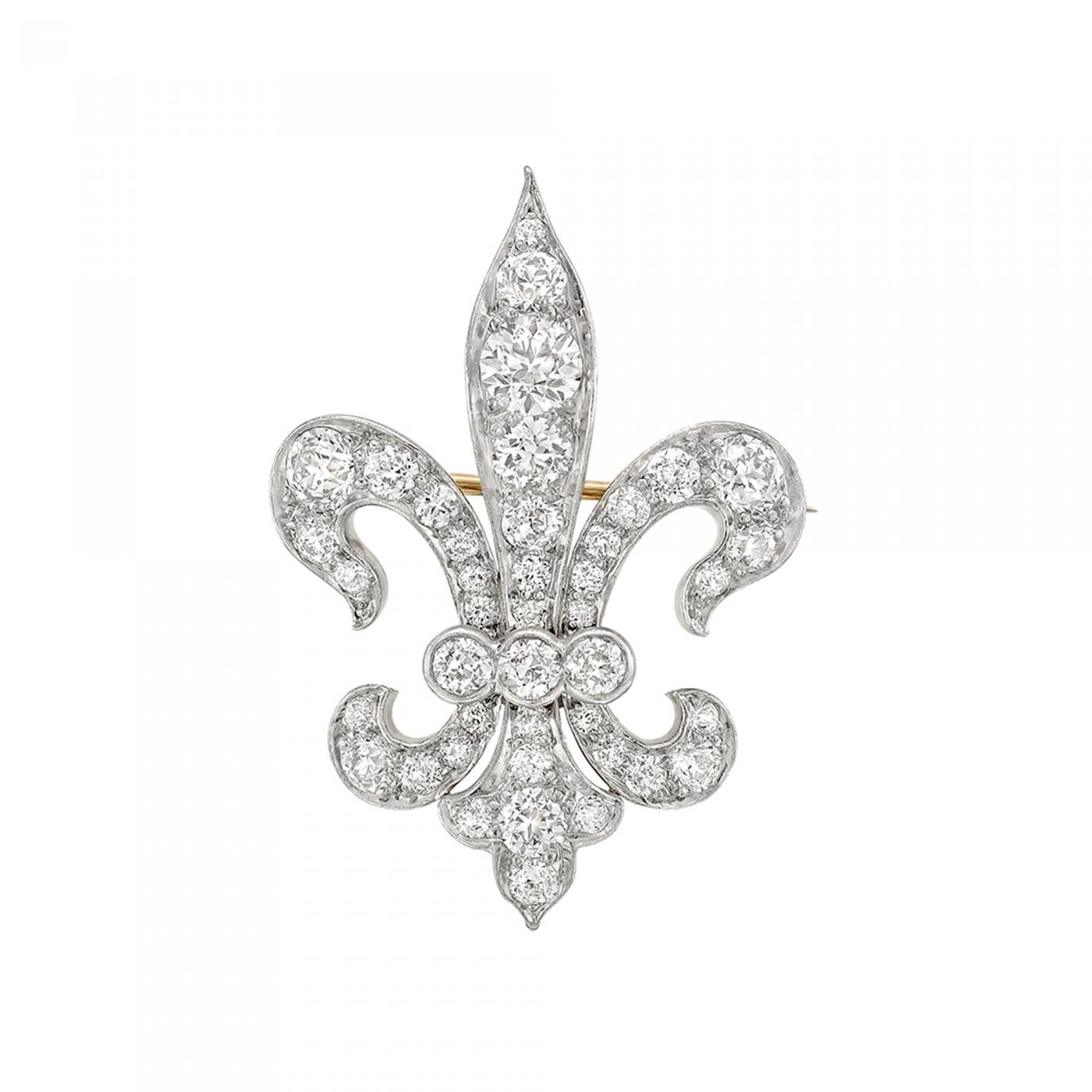 Tiffany and co tiffany co late 19th century diamond fleur de listings jewelry brooches and pins brooches pins aloadofball Image collections