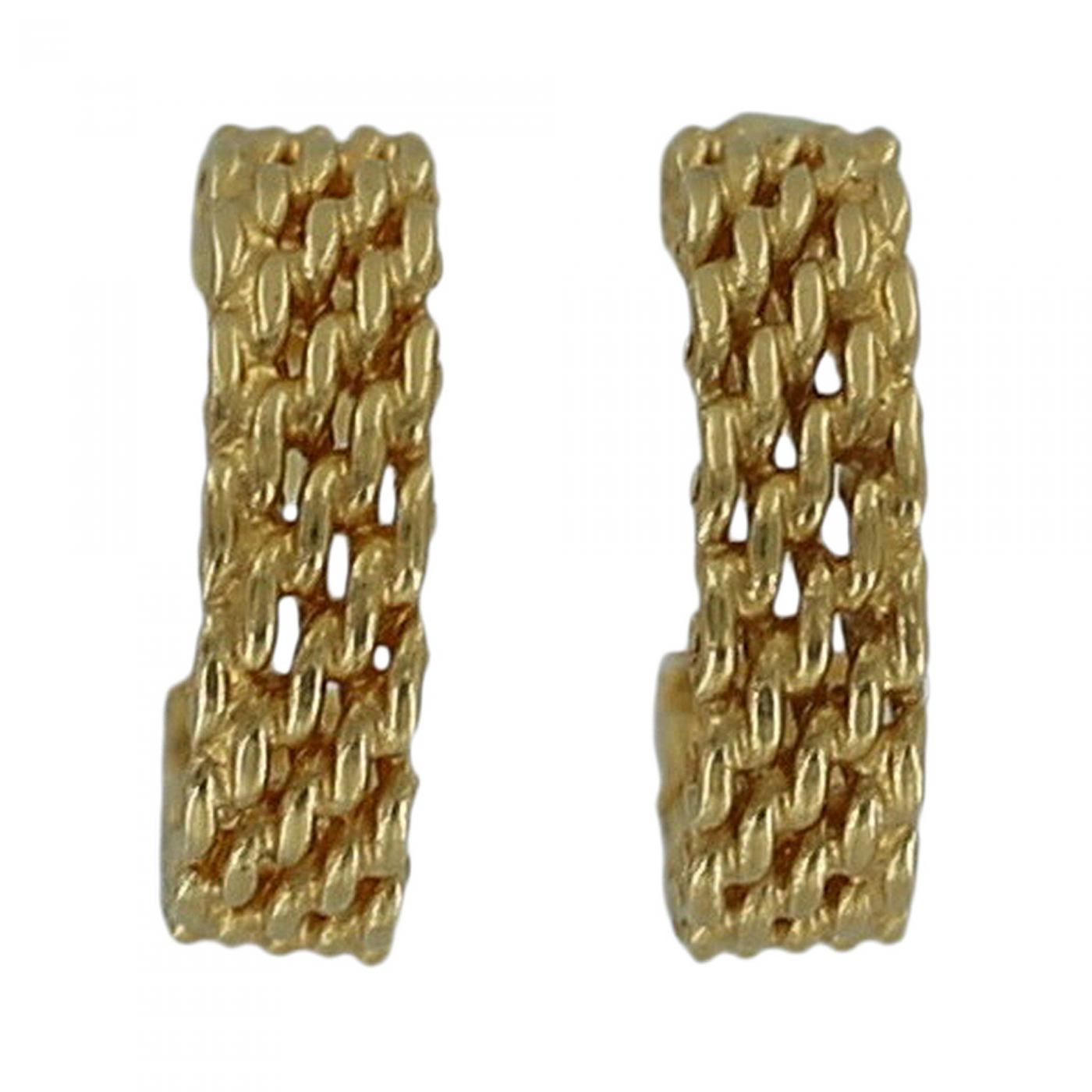 3b739b4216de4 Tiffany and Co. - Tiffany & Co. Somerset Woven Gold Hoop Earrings