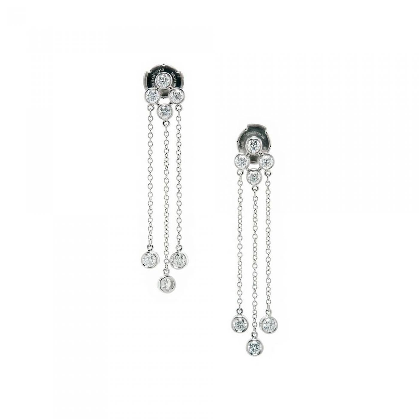 Tiffany & Co Tiffany & Co Triple Dangle Diamond Platinum Earrings