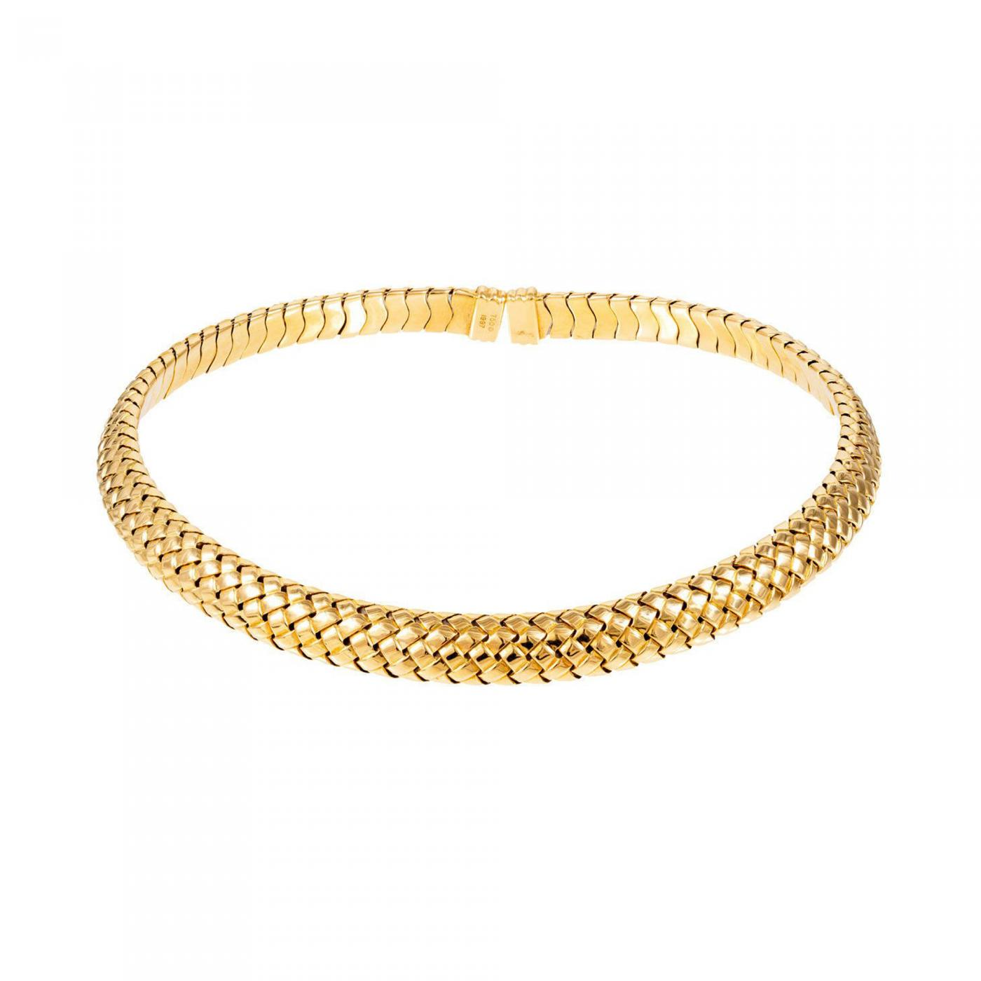 Tiffany And Co Tiffany Amp Co Yellow Gold Mesh Collar