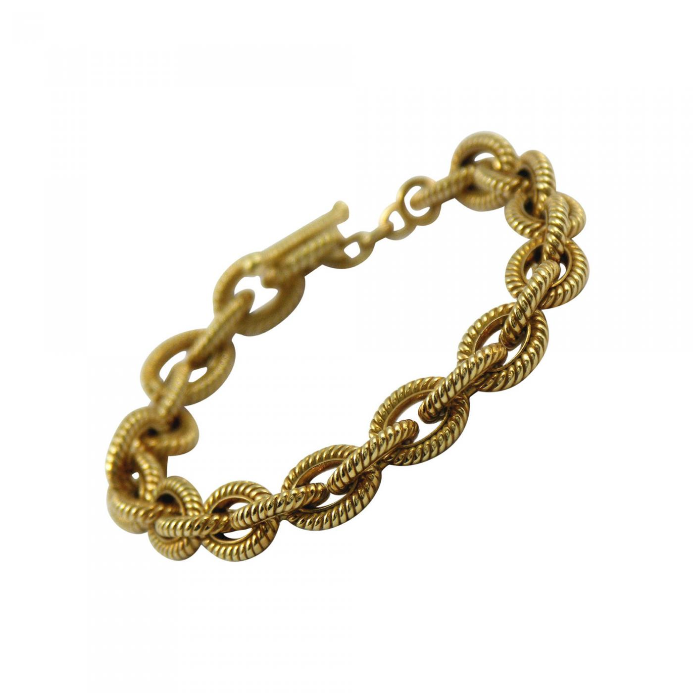 Tiffany and Co  - Tiffany and Co  Gold Twisted Rope Link Bracelet