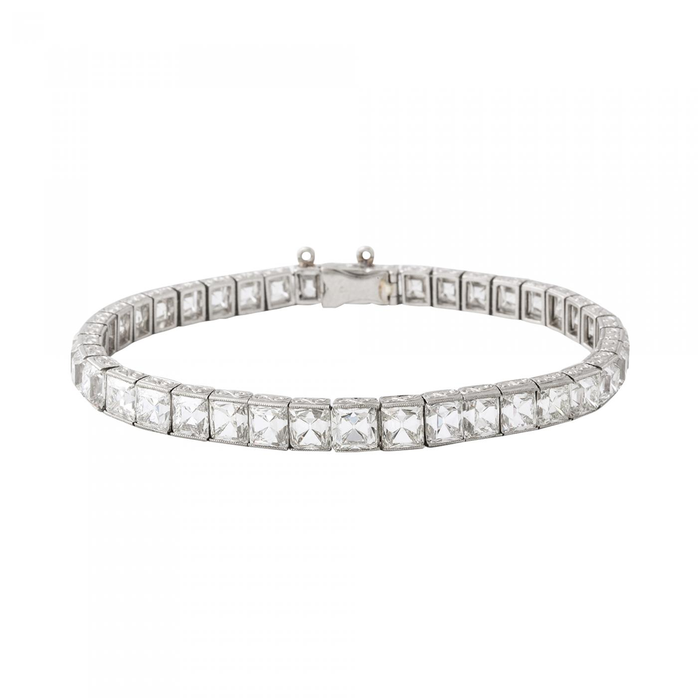 0334cea91 Tiffany and Co. - Antique French-cut Diamond Bracelet by Tiffany & Co.