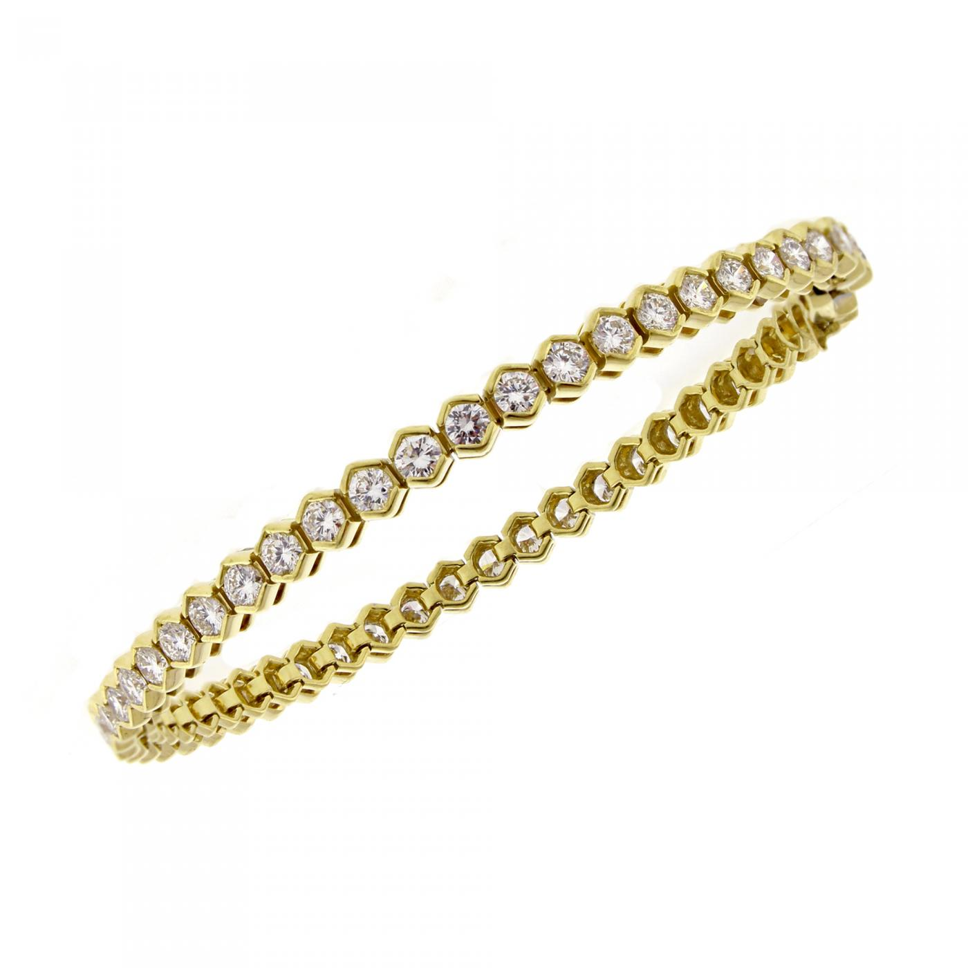 Tiffany Co Tiffany Co Diamond 18 Karat Gold Tennis Bracelet