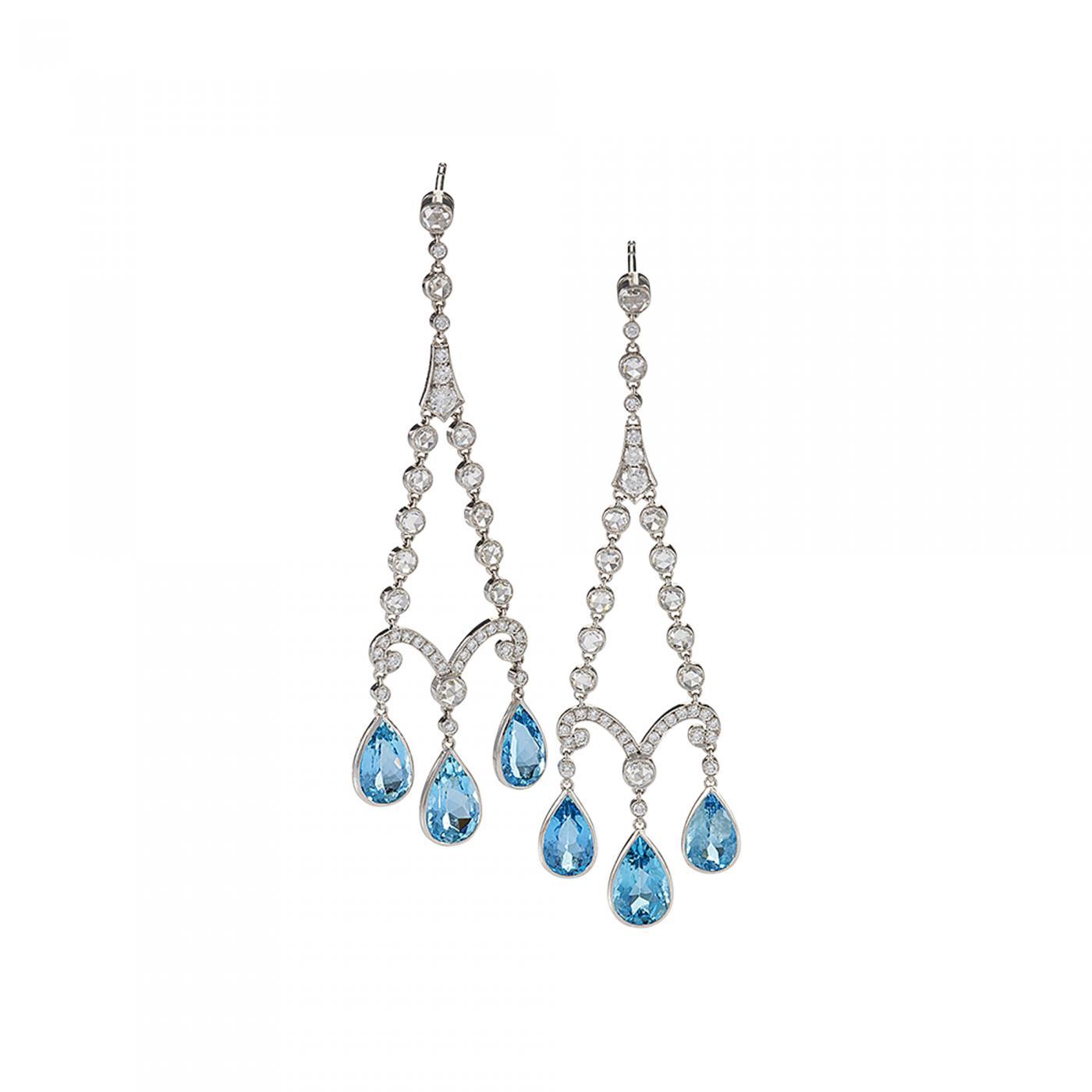 5eb2e1c27 Tiffany and Co. - Tiffany & Co. Earrings with Aquamarine and Diamond