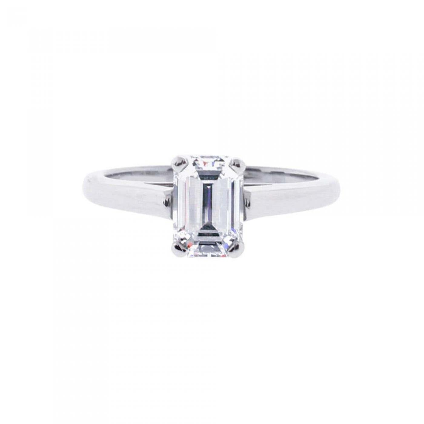 Tiffany Co Tiffany Co Emerald Cut Diamond Solitaire Engagement Ring