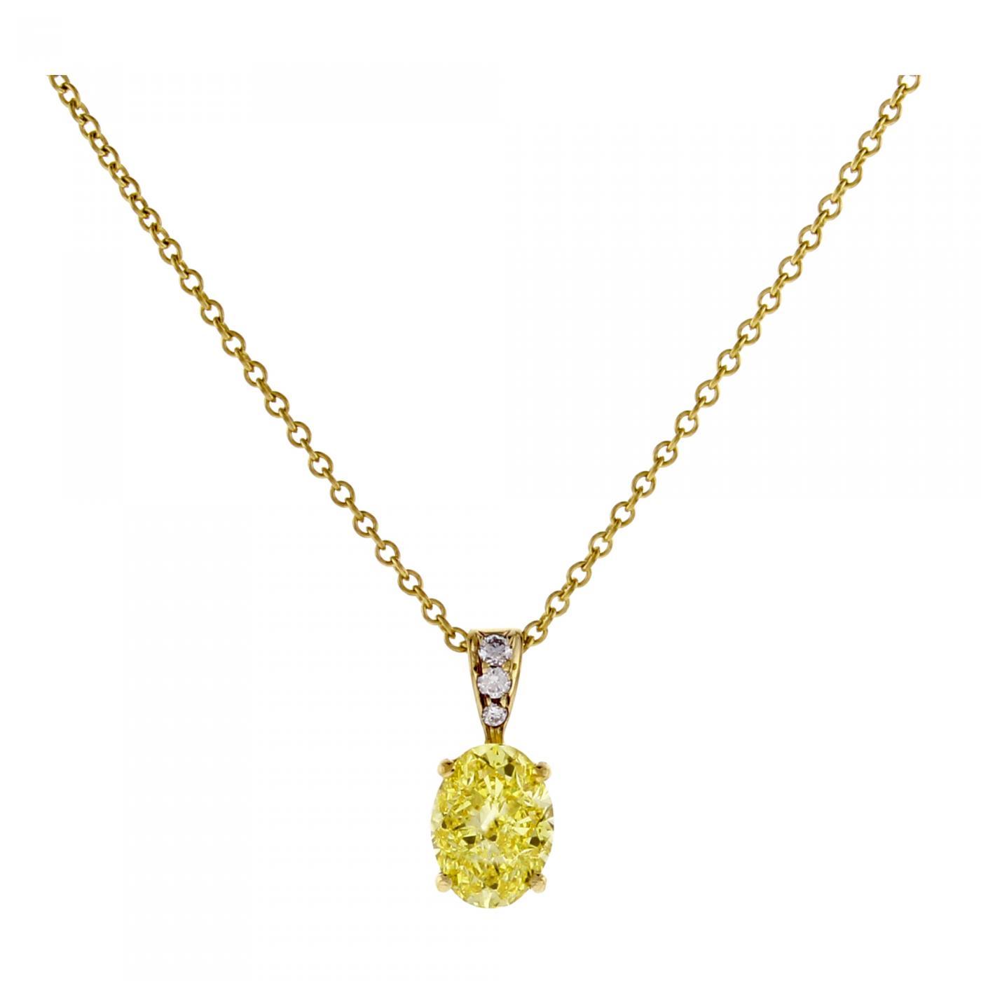 Tiffany And Co Tiffany Co Oval Yellow Diamond Pendant
