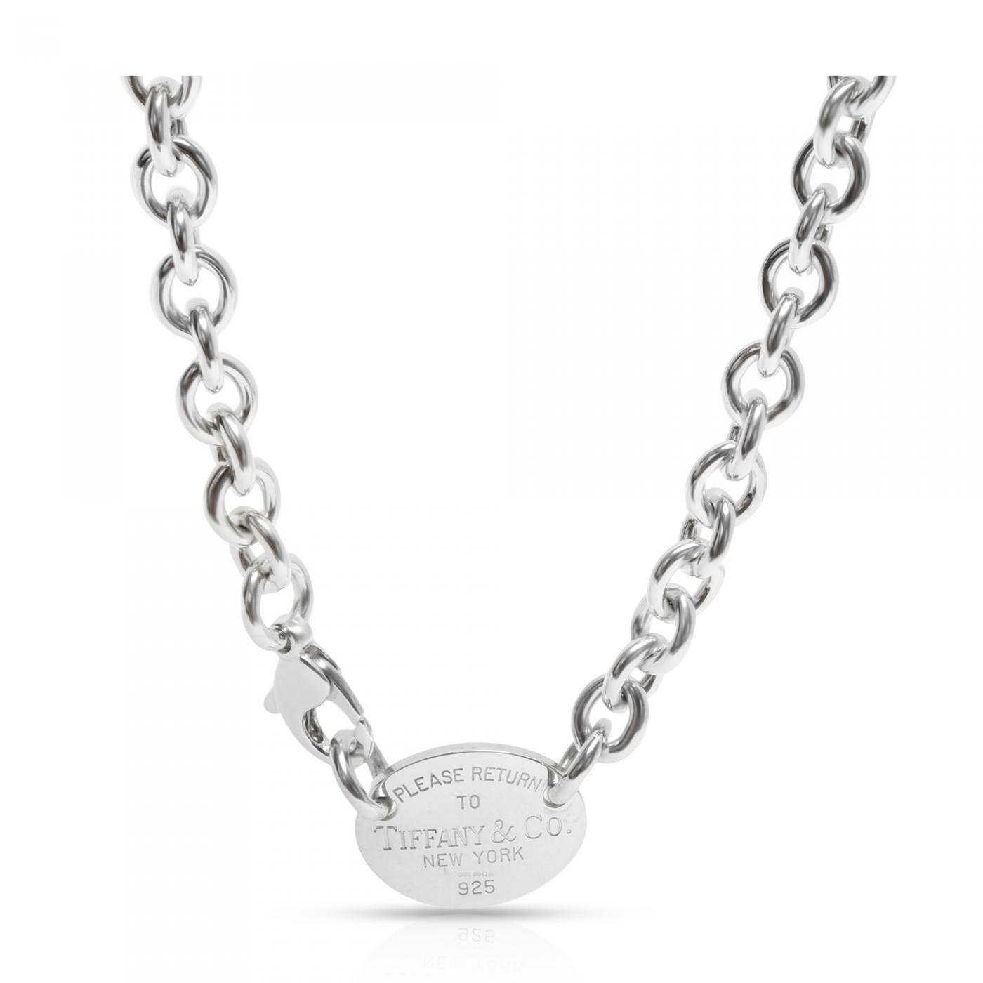 Tiffany And Co Tiffany Co Return To Tiffany Necklace In Sterling Silver