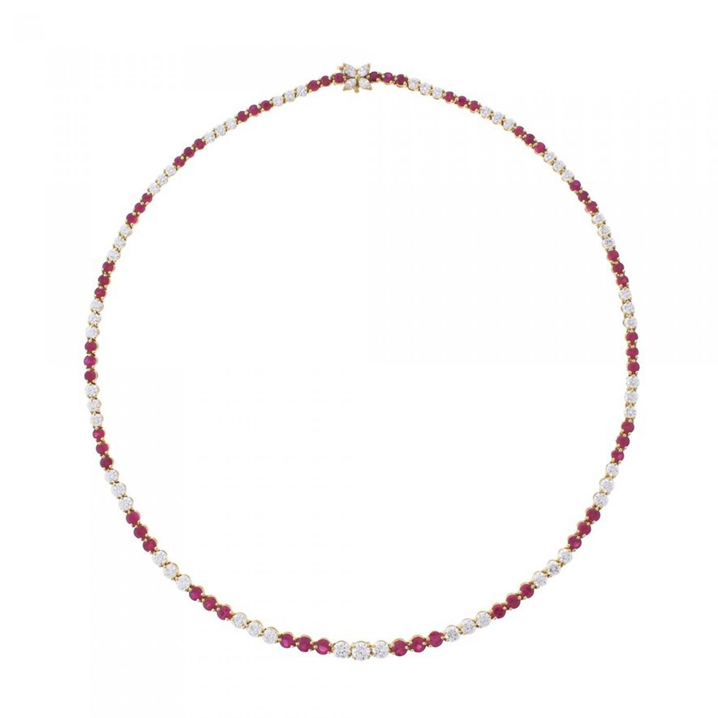 7390e3911 Tiffany and Co. - Tiffany & Co. Ruby and Diamond Victoria Necklace