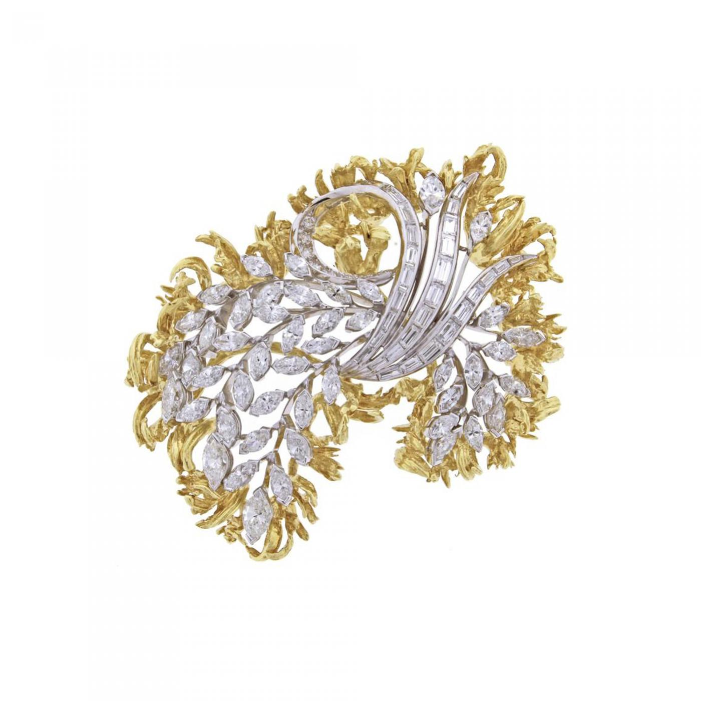 mediterranean diamonds rose jewelry brooch collections nacar en silver almond