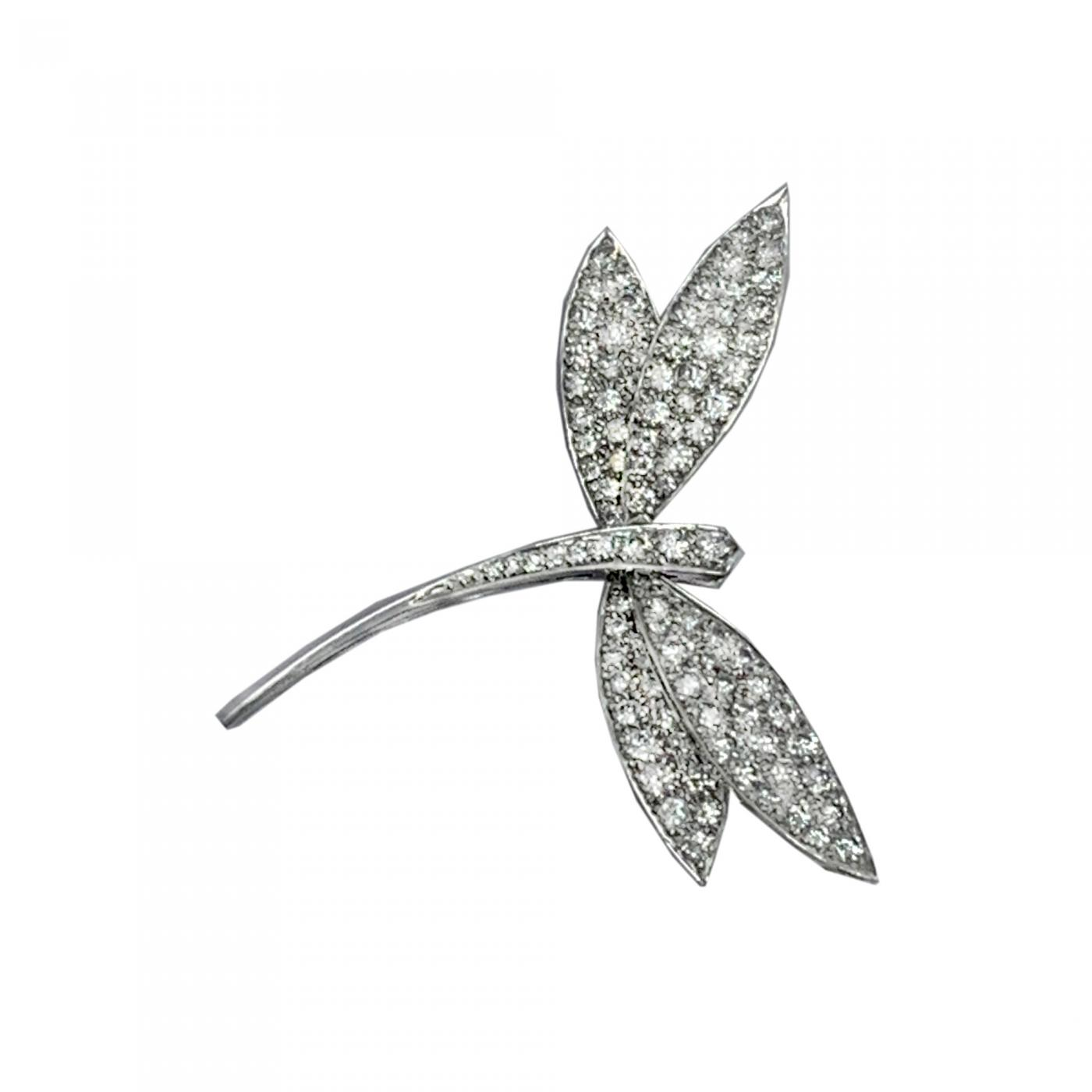 6b62cd6608776 Van Cleef & Arpels Diamond Dragonfly Pin