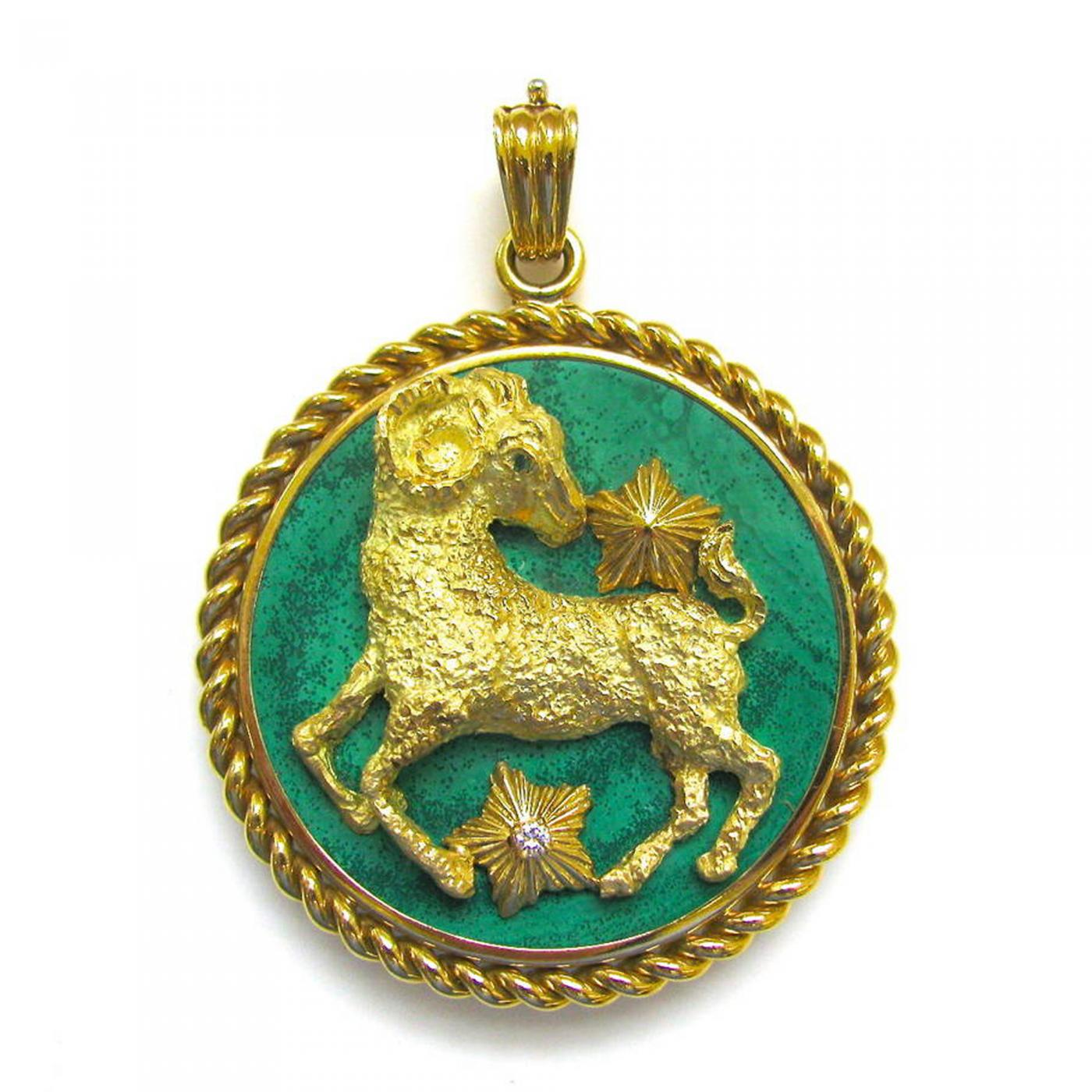 Van cleef and arpels van cleef and arpels malachite zodiac pendant listings jewelry necklaces pendants drop pendant van cleef arpels aloadofball Image collections