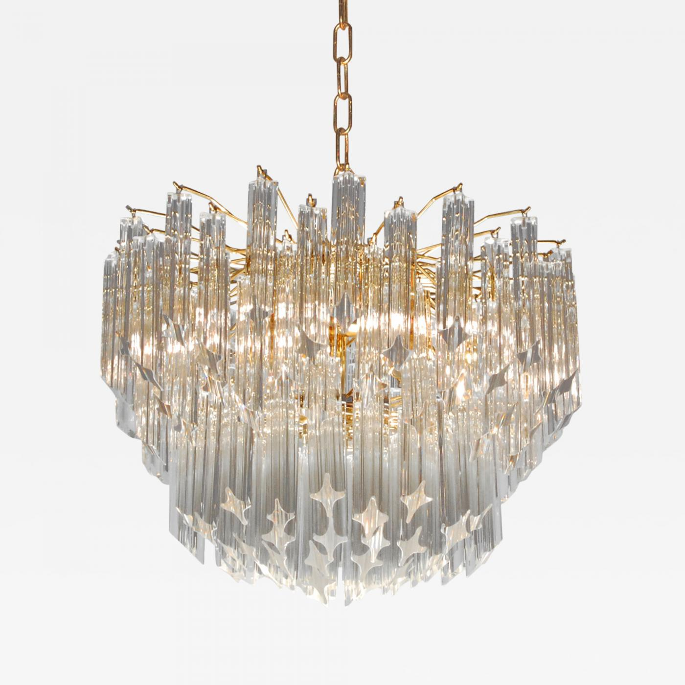 Venini chandelier with solid glass rods from murano 1960s listings furniture lighting chandeliers and pendants aloadofball Images