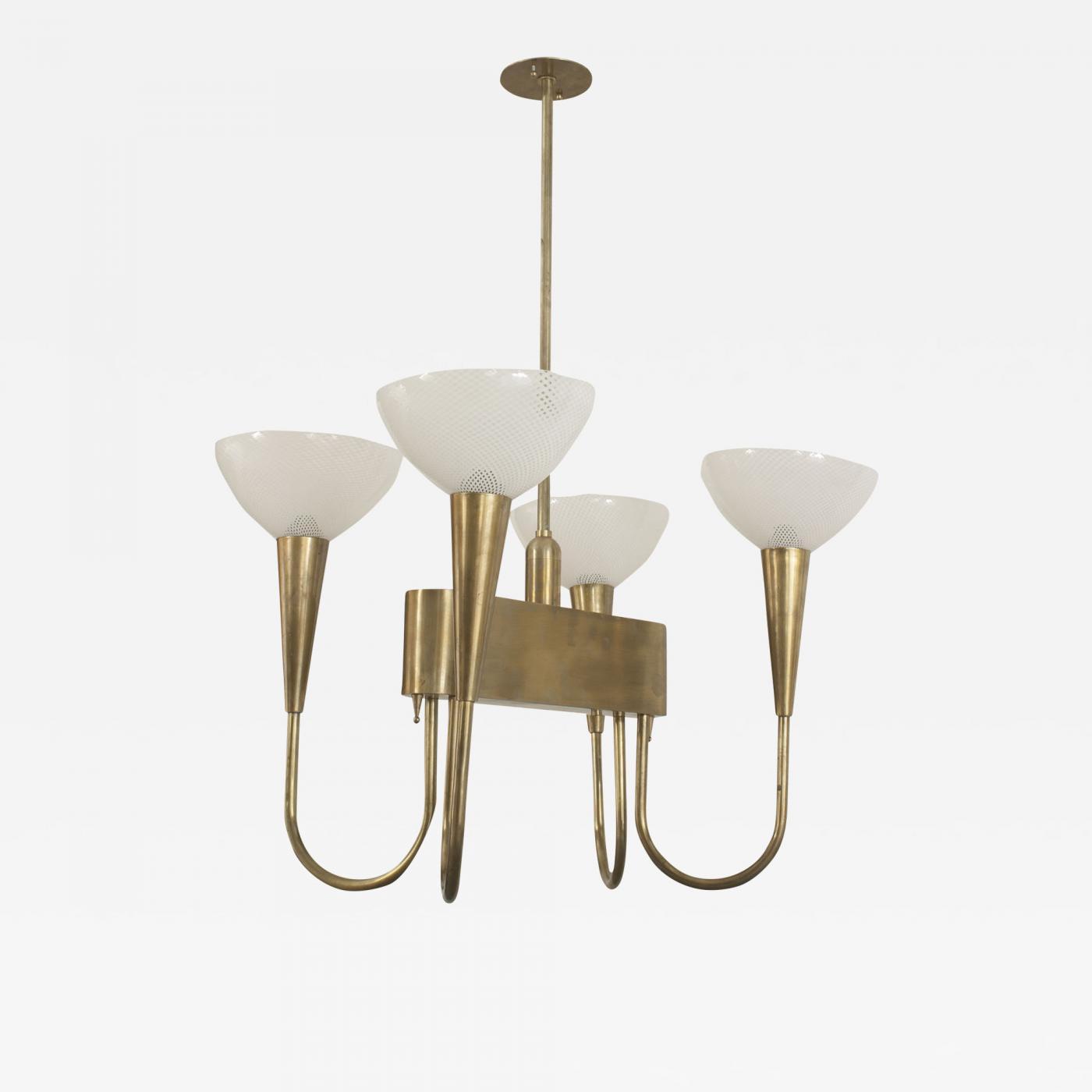 Venini italian 1940s brass chandelier listings furniture lighting chandeliers and pendants aloadofball Image collections