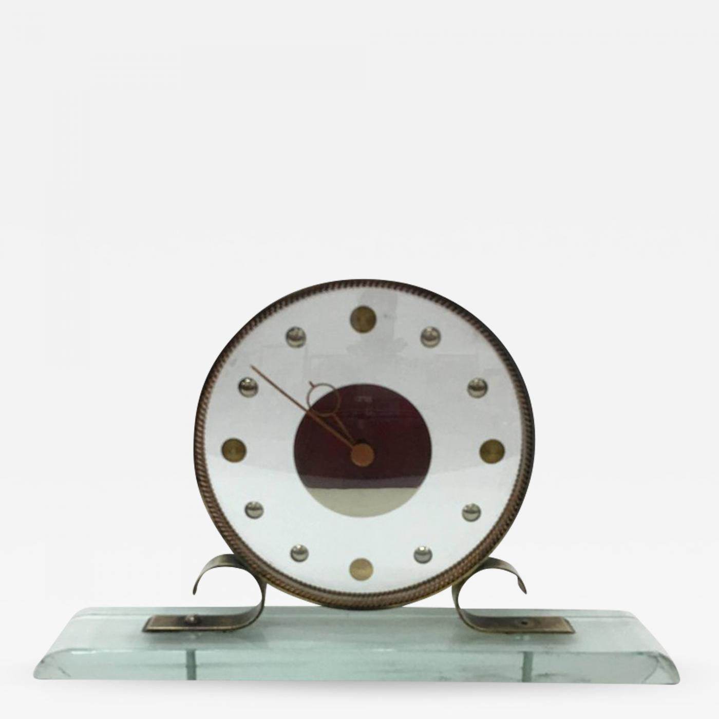 Venini - Mid-Century Modern Table Clock Iatos Per Venini
