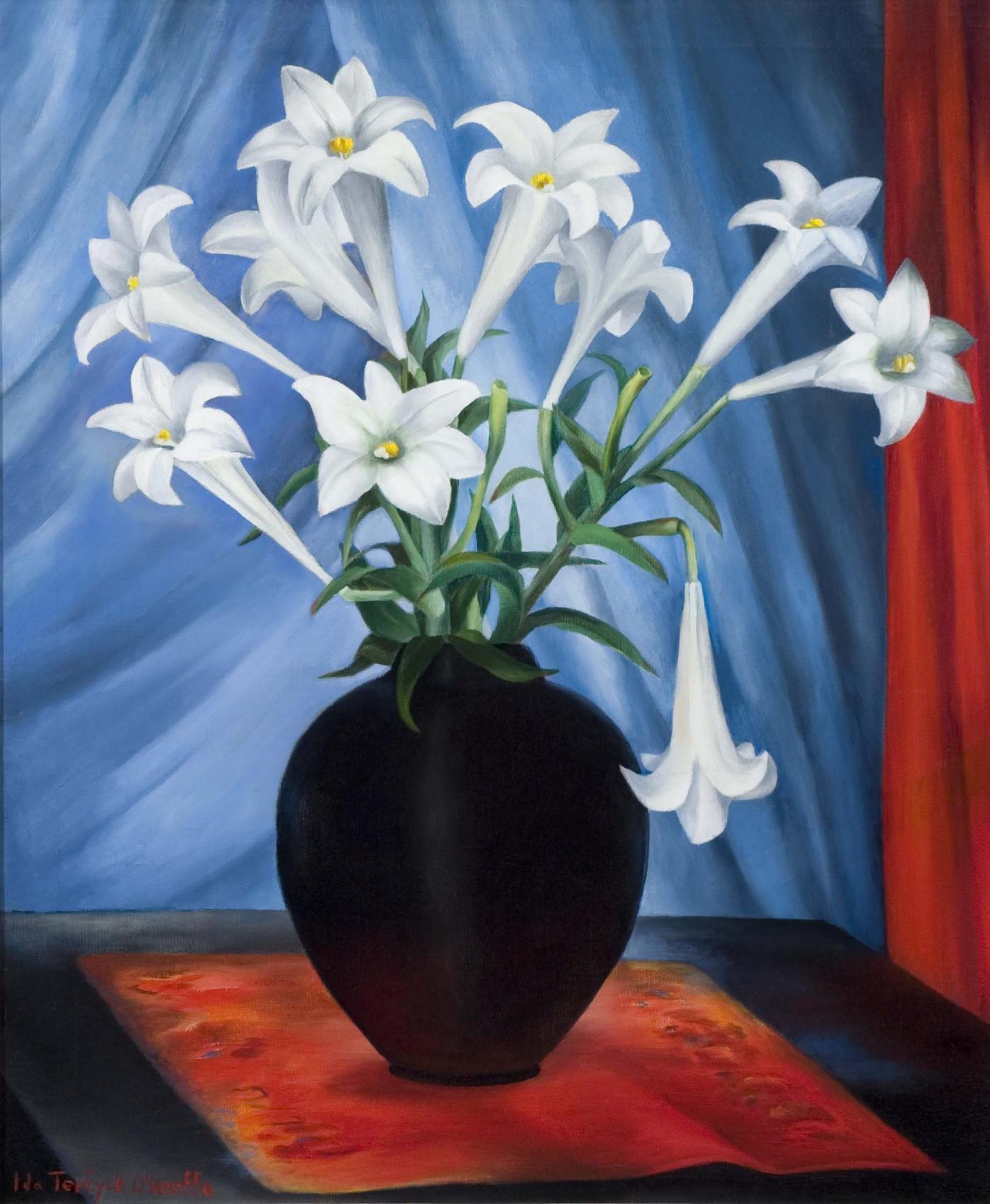 Ida O Keeffe The White Lilies