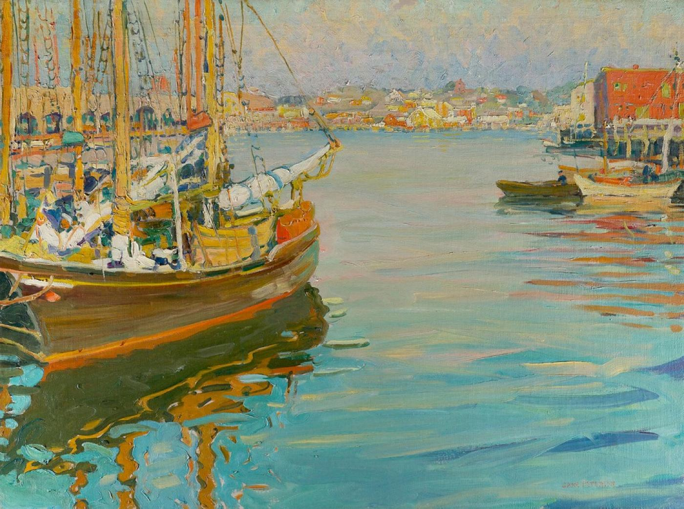 Jane Peterson Gloucester Harbor