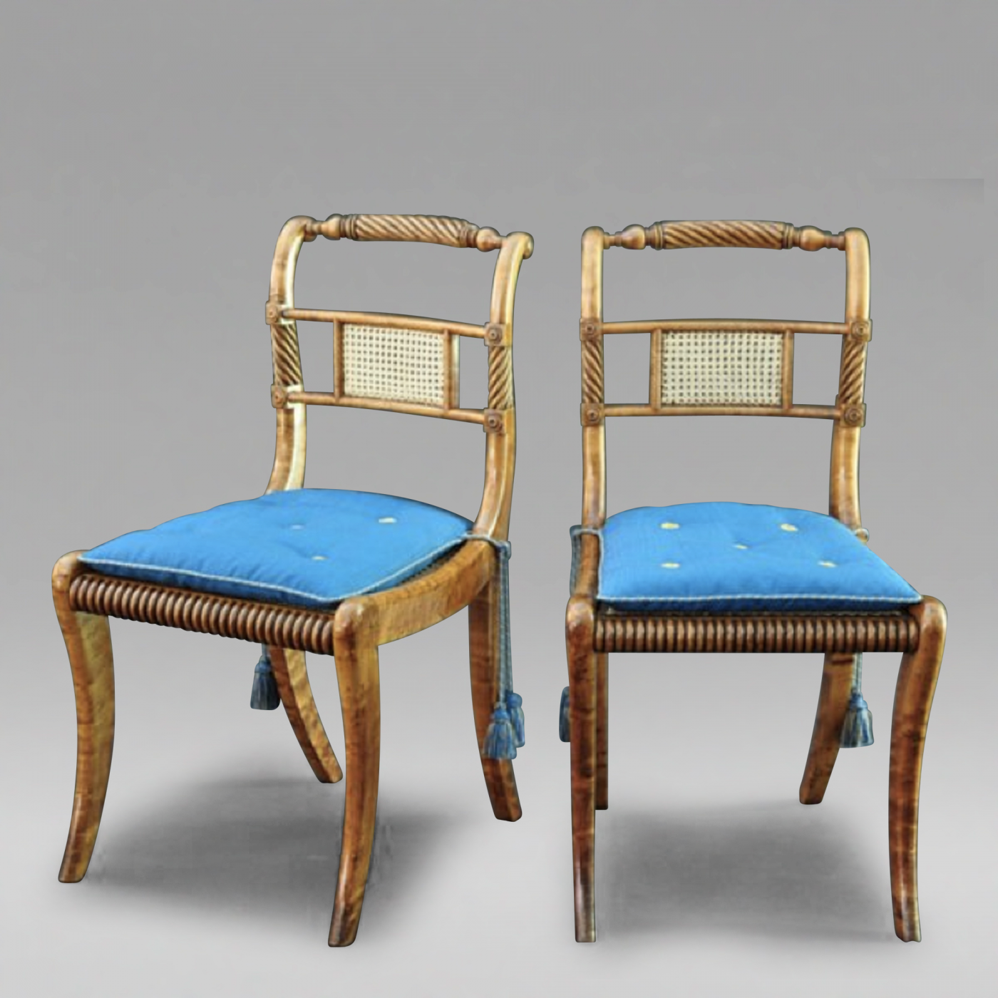 a pair of classical chairs c 1815