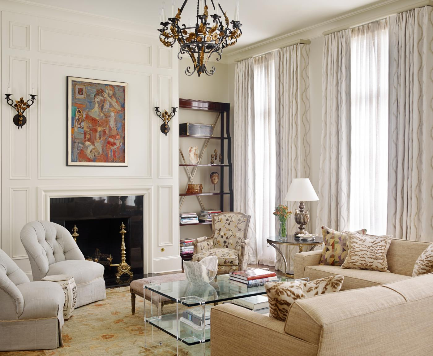 A buckhead townhouse by c weaks interiors inc for Tranquil living room