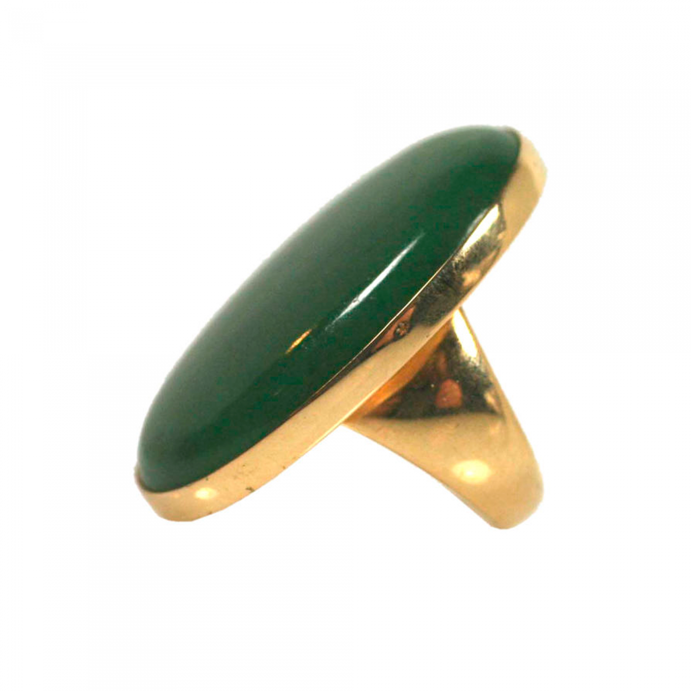 georg georg nephrite jade gold ring no 1090