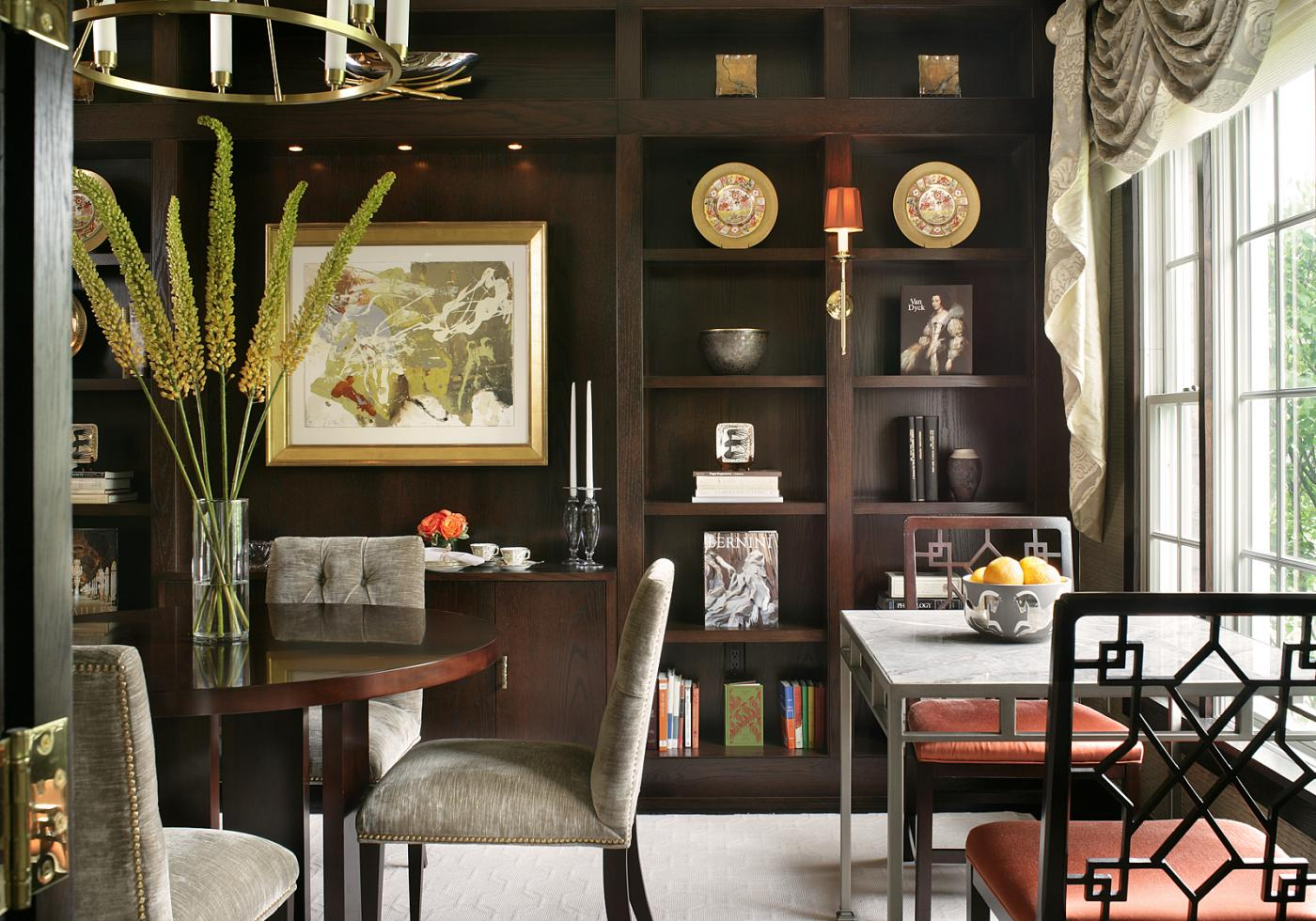 Modern Library Dining Room By J Stephens Interiors