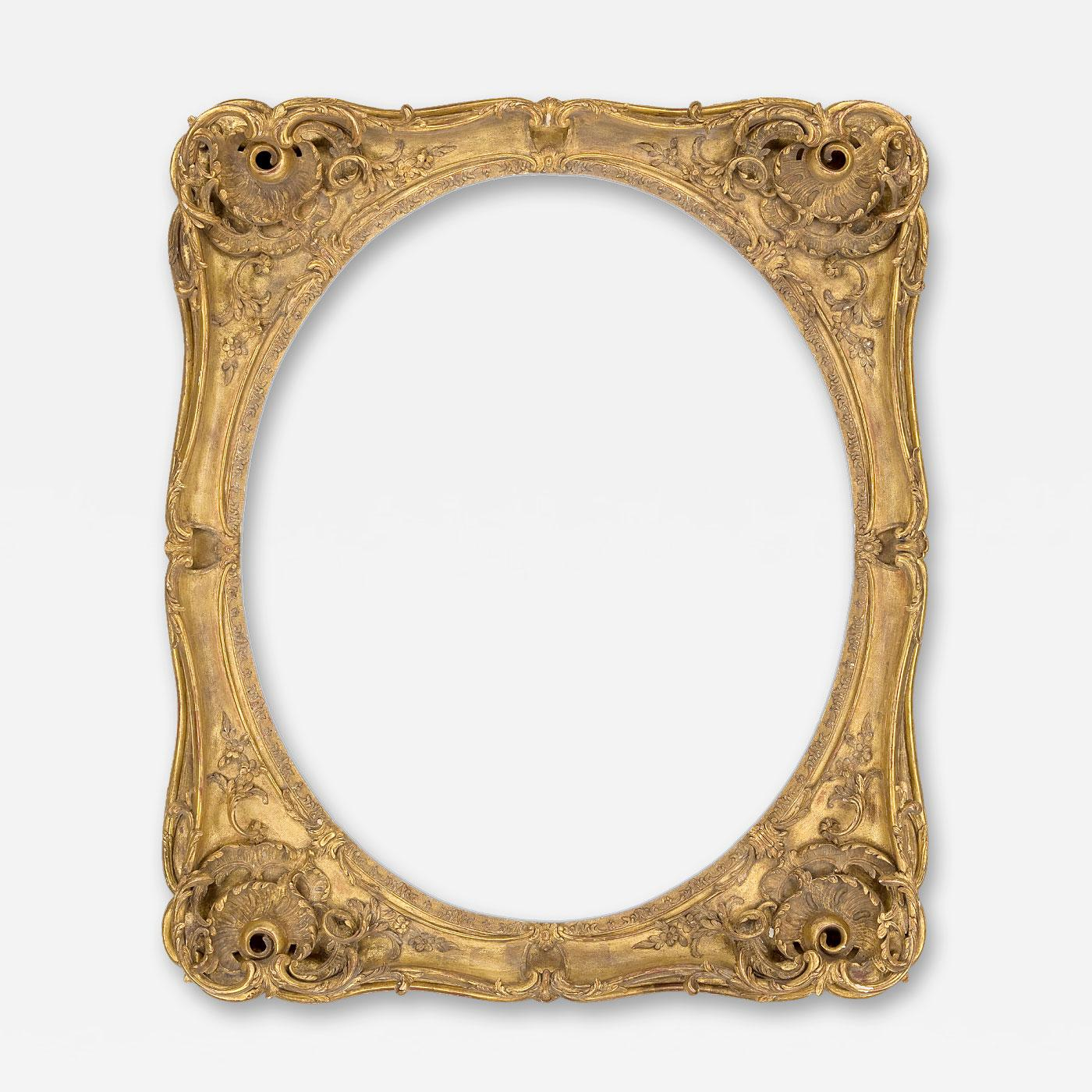 18th c. French Louis XV Oval Frame