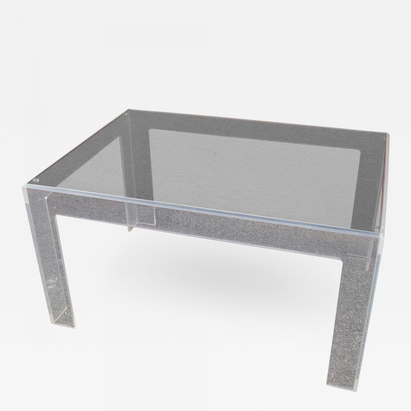 Lucite Coffee Table By Jeffrey Bigelow