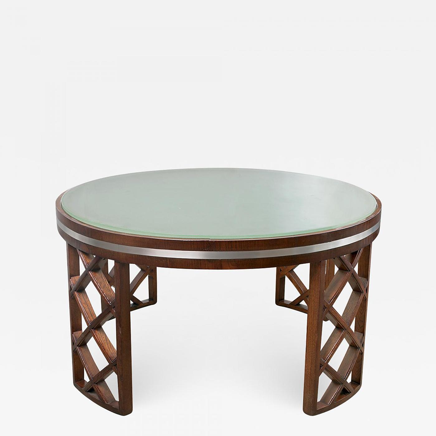 Art Deco Coffee Table Brisbane: SWEDISH ART DECO COFFEE TABLE WITH LATTICE LEGS