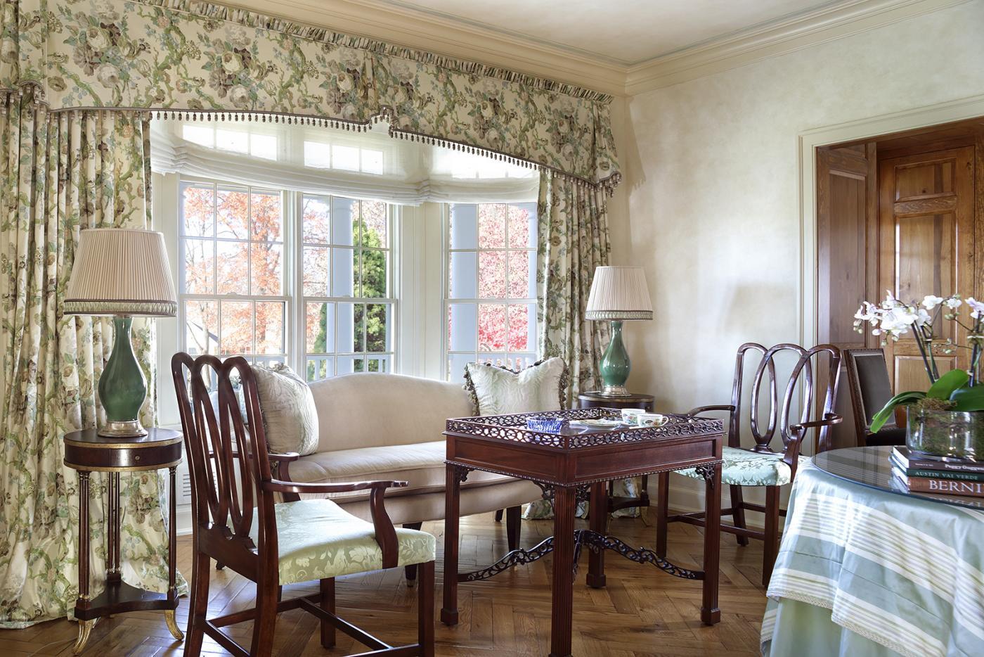 Fresh English Country Living Room by J. Stephens Interiors
