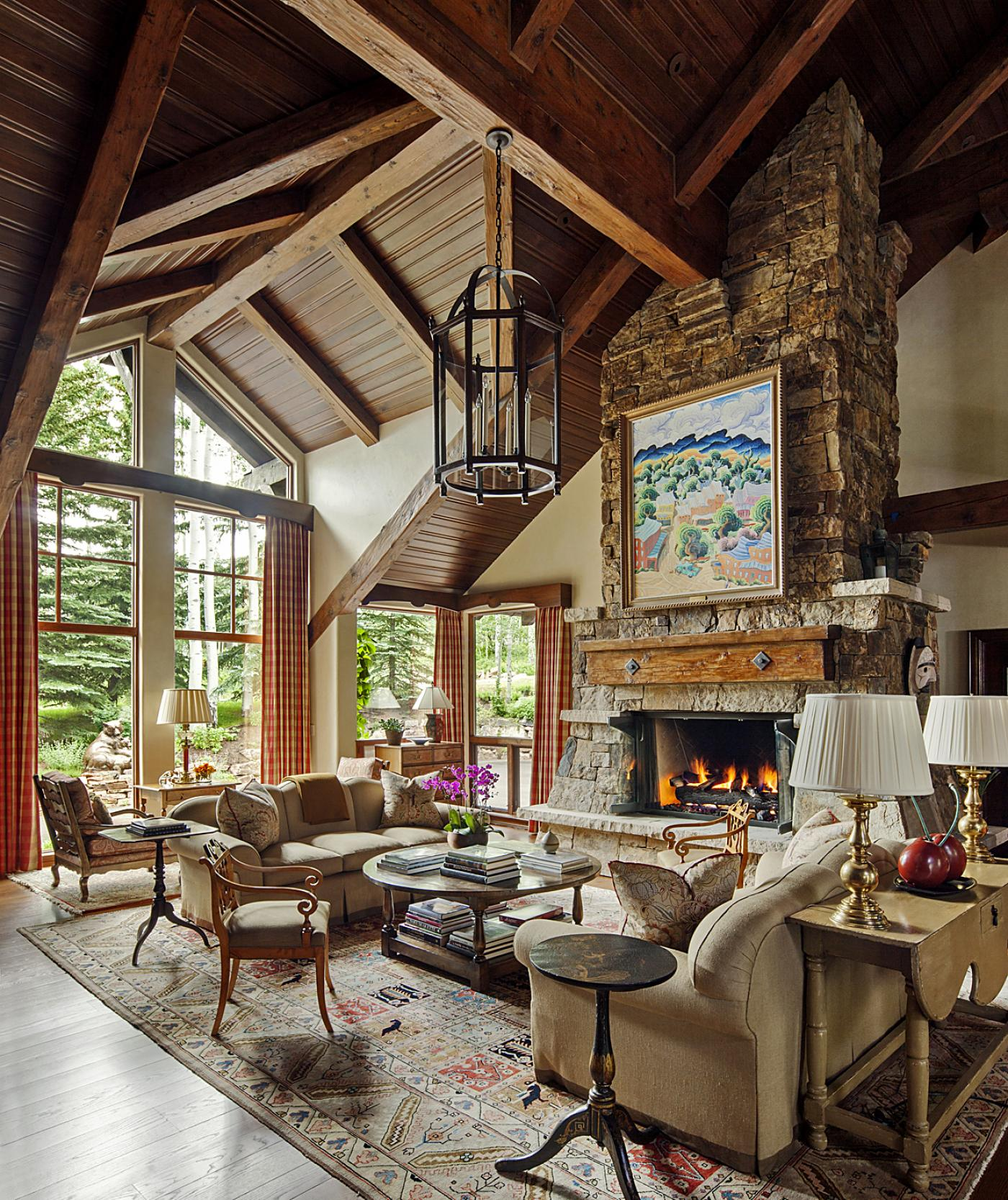 Ski Chalet Interior Design colorado ski chalet by tom stringer design partners