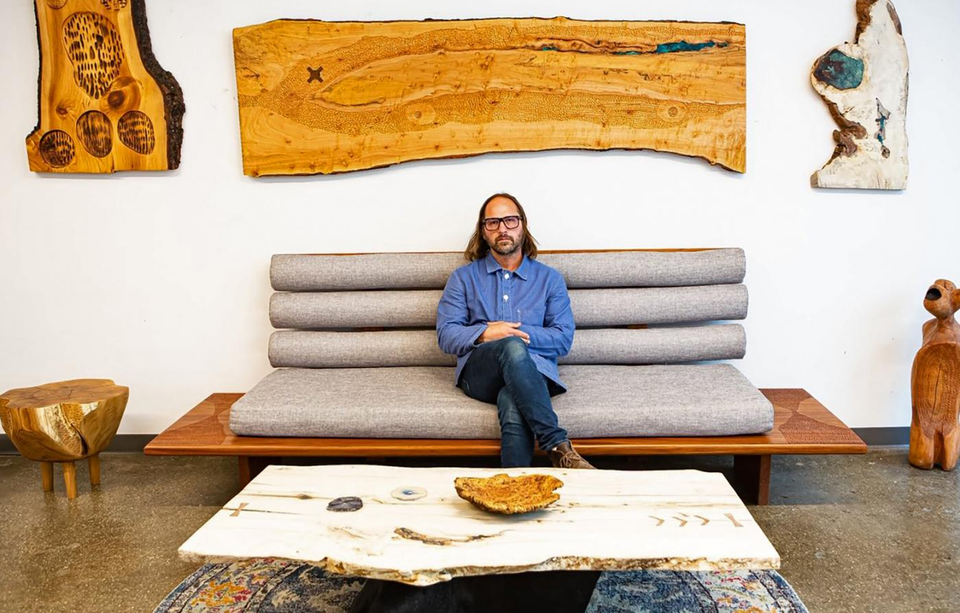 How Craftsman Ian Love Uses Foraged Wood to Create One-of-a-Kind Furniture
