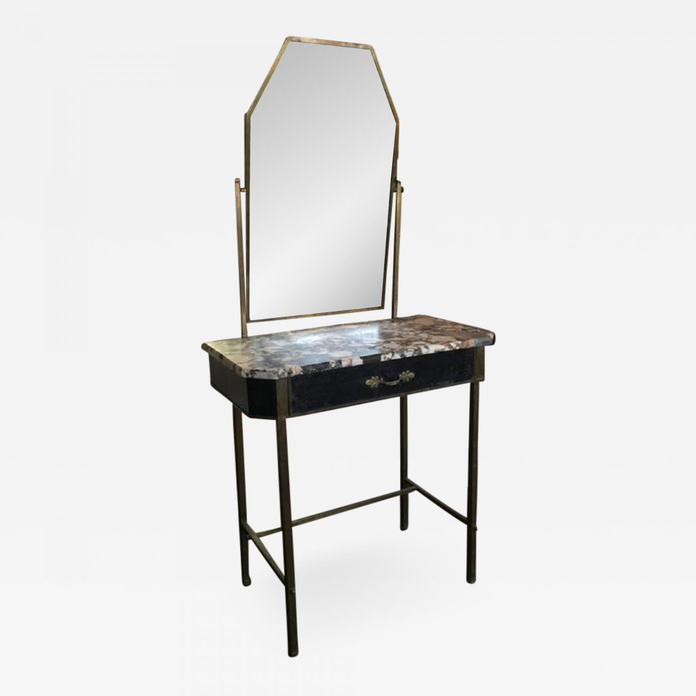 innovative design 080b3 e61de 1800s Metal and Marble Dressing Table