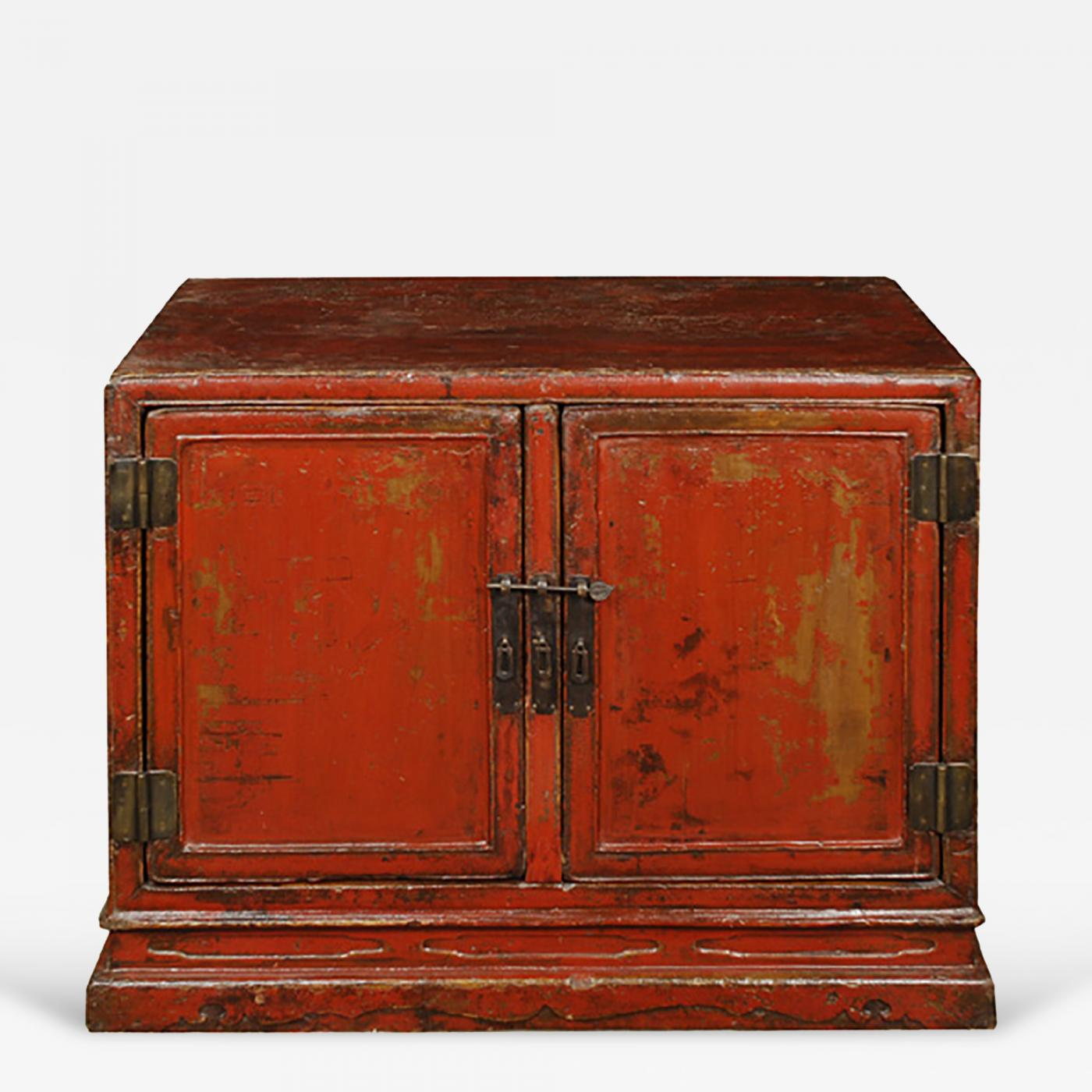 Listings / Furniture / Case Pieces U0026 Storage / Cabinets · 18th Century Chinese  Red Lacquer Cabinet