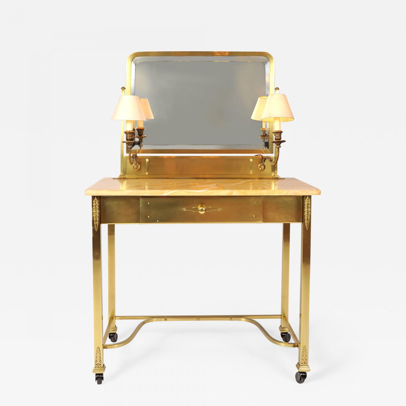 new arrival bae02 161cd 1950s Italian Marble and Brass Dressing-Table