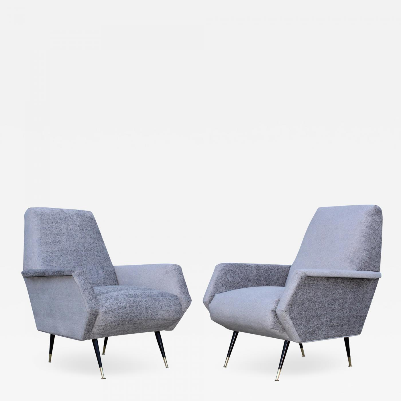 Listings / Furniture / Seating / Club Chairs · 1950s Italian Mid Century Modern  Lounge Chairs