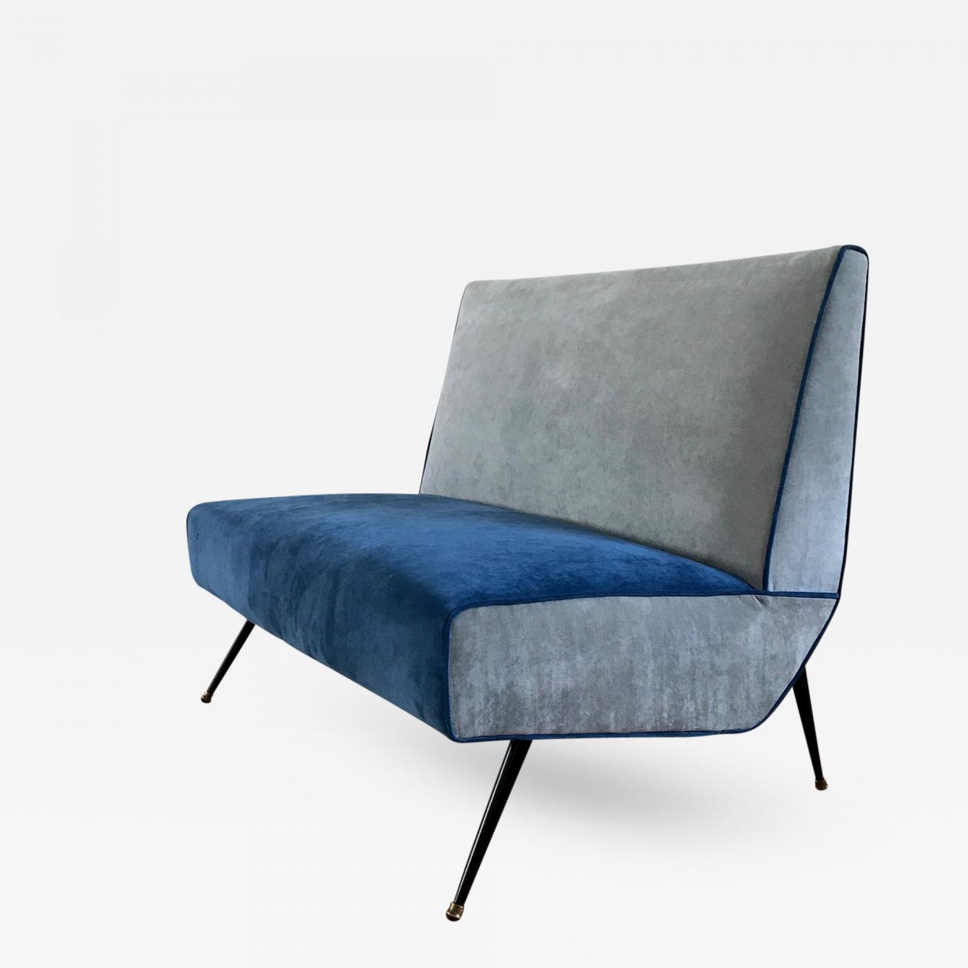 1950s Small Italian Bench-Sofa