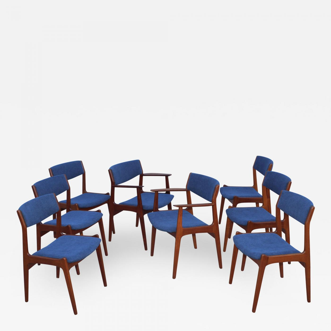1960 S Danish Teak Dining Chairs Set Of 8