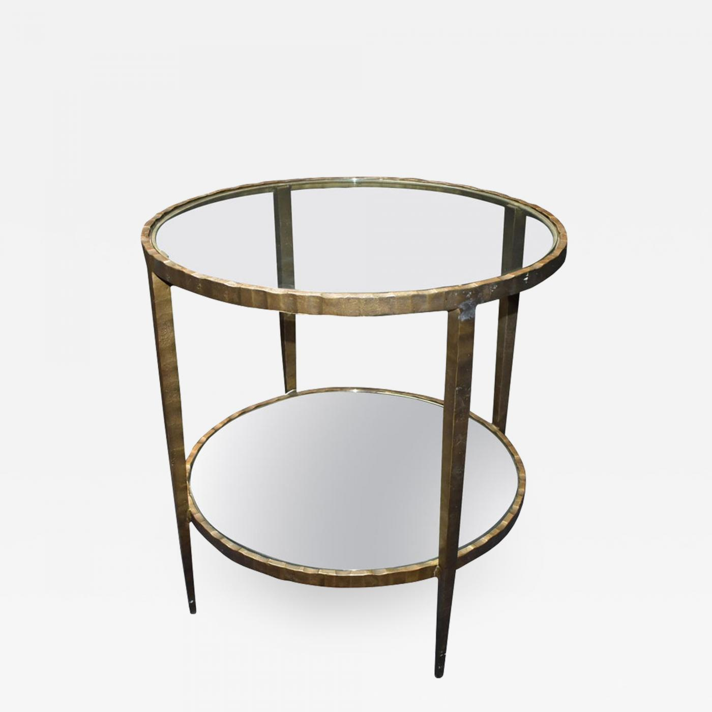 Miraculous 1960S Hammered Iron Two Tiers Round Side Table Bralicious Painted Fabric Chair Ideas Braliciousco