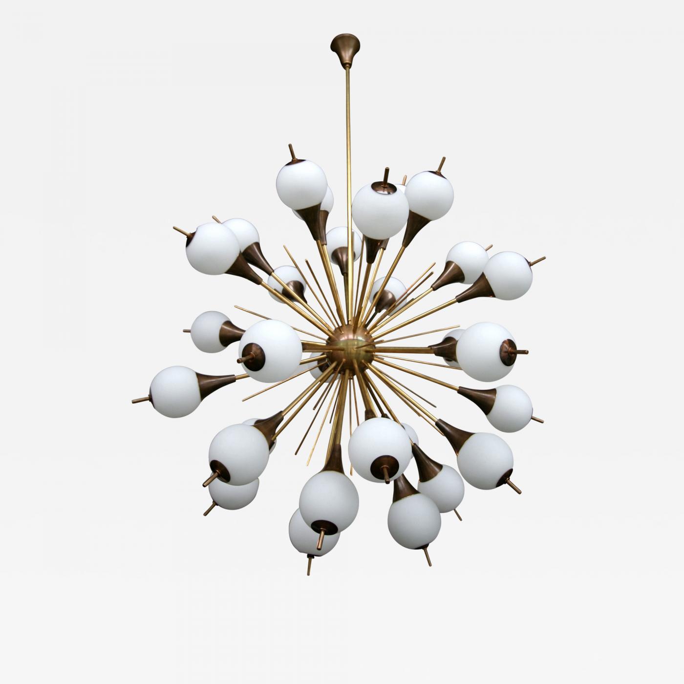 emil stejnar for and sputnik by rupert chandelier glass large austrian nikoll brass