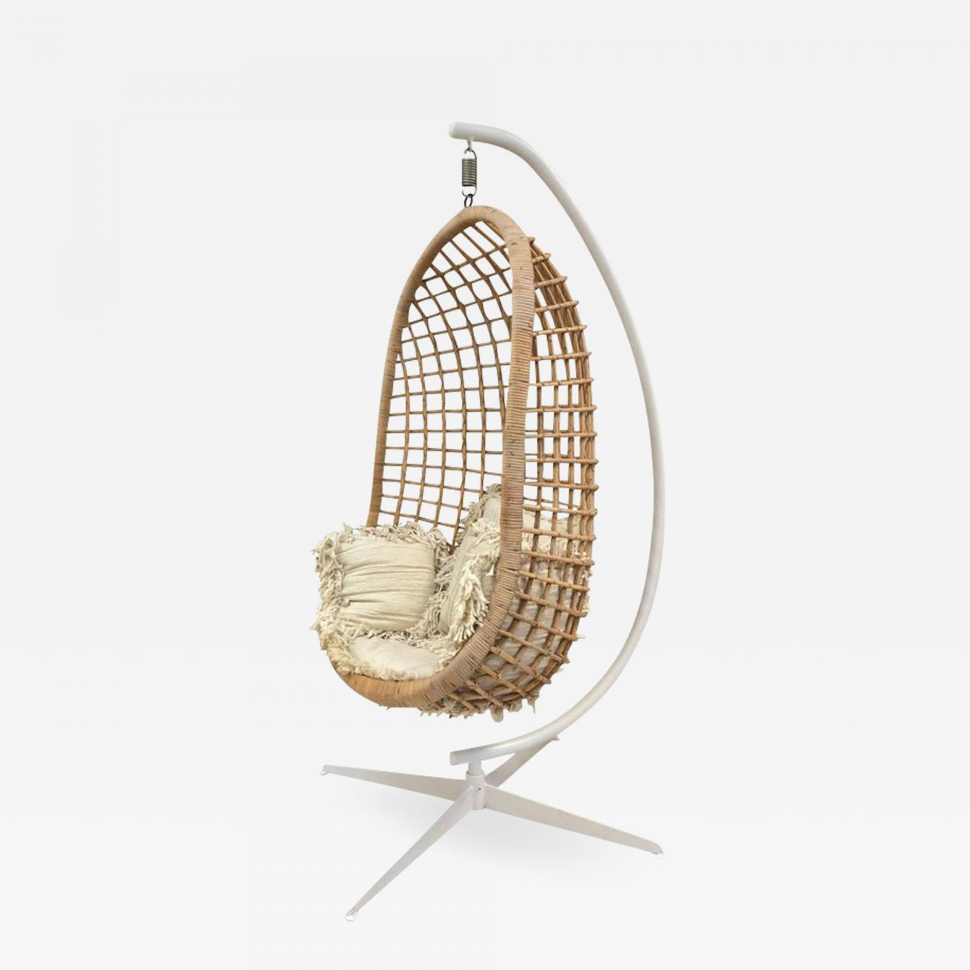 1960s rattan swing chair. Black Bedroom Furniture Sets. Home Design Ideas