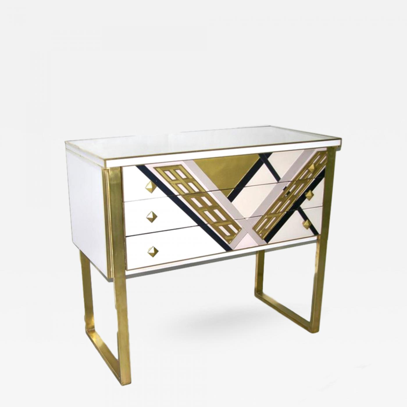 Fabulous 1990S Italian Unique White Black And Gold Chest Or Sideboard On Brass Legs Creativecarmelina Interior Chair Design Creativecarmelinacom