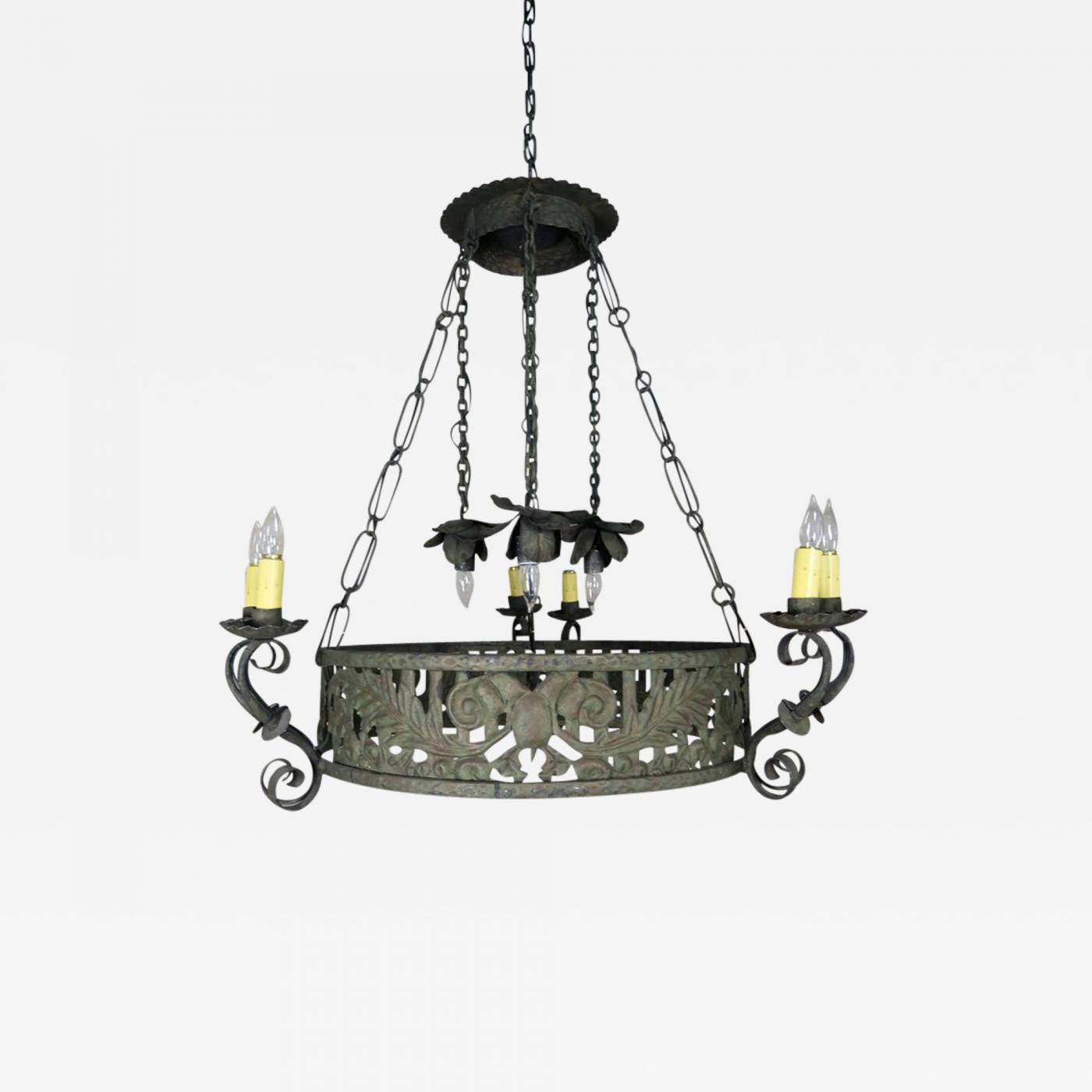 19th c spanish wrought iron chandelier listings furniture lighting chandeliers and pendants 19th c spanish wrought iron chandelier aloadofball Image collections