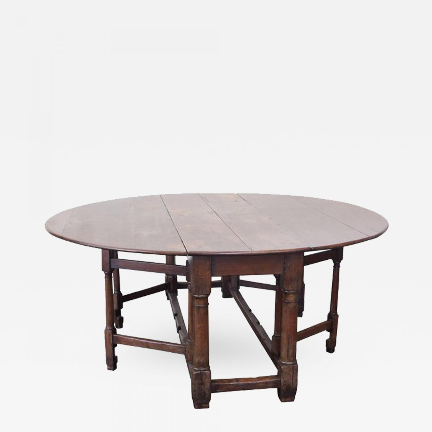 Antique Drop Leaf Table >> 19th Century Antique Drop Leaf Table In Oak