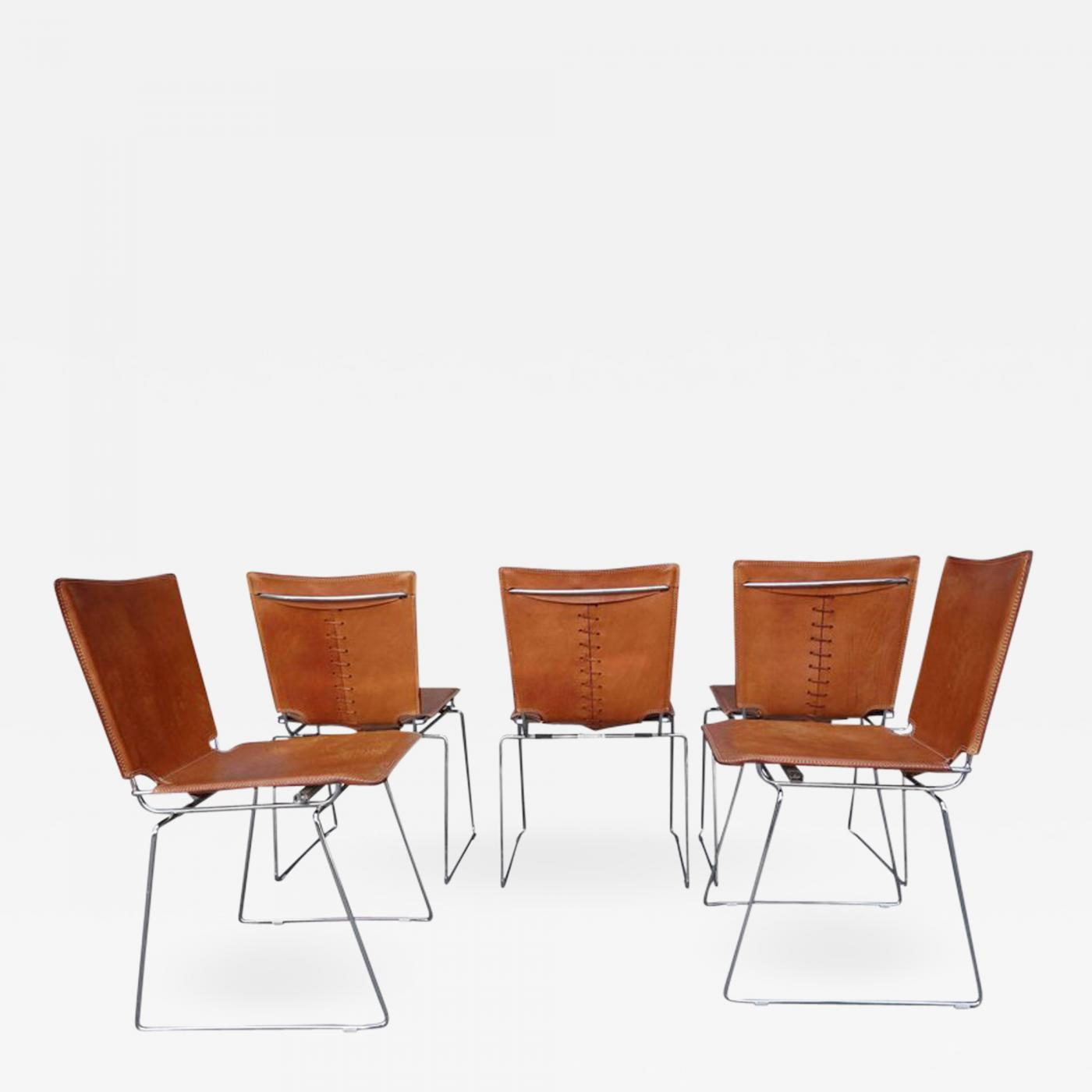 20 Midcentury Pelle Stacking Chairs By Icf