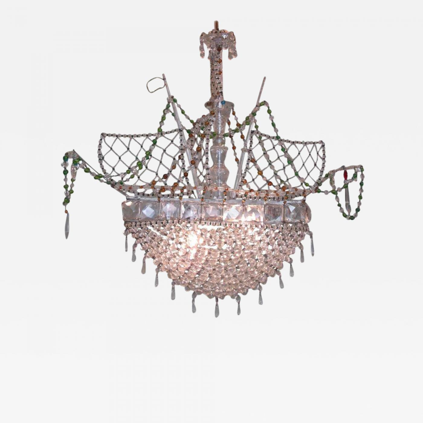 Crystal ship chandelier campernel designs listings furniture lighting chandeliers and pendants 20th c italian venetian crystal ship arubaitofo Choice Image