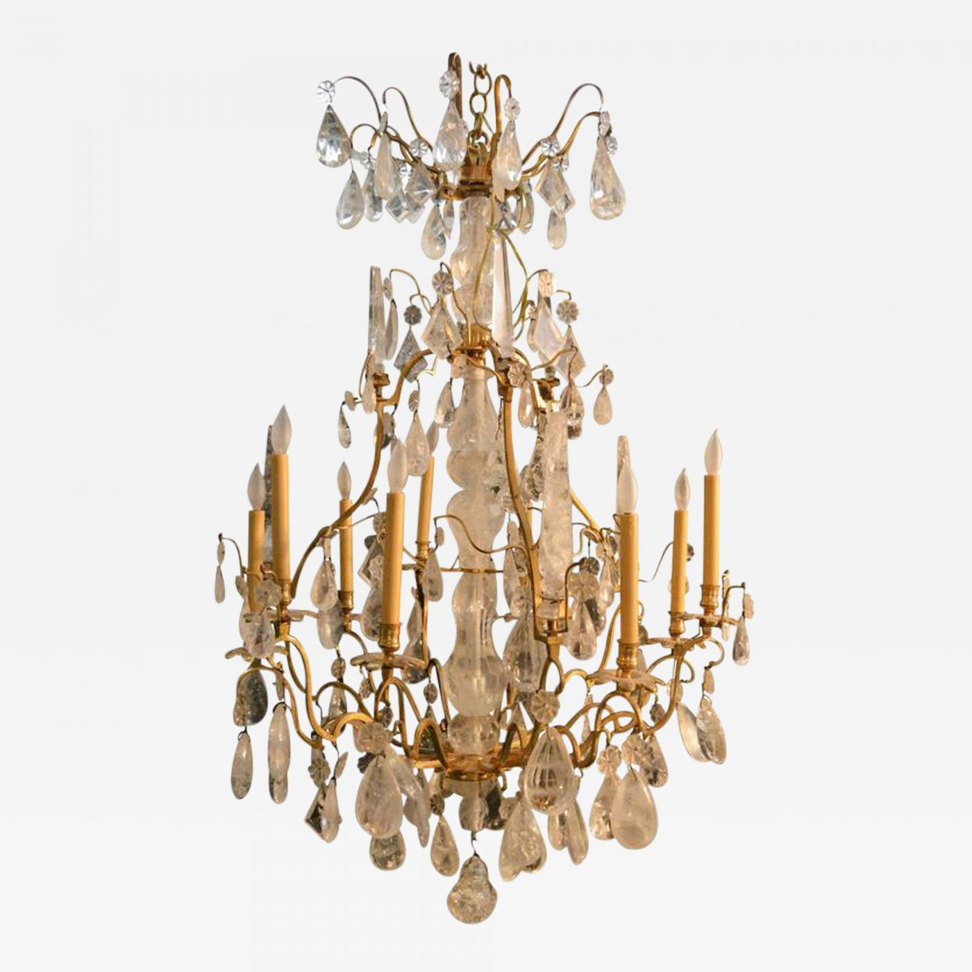Century Bronze Rock Crystal Chandelier