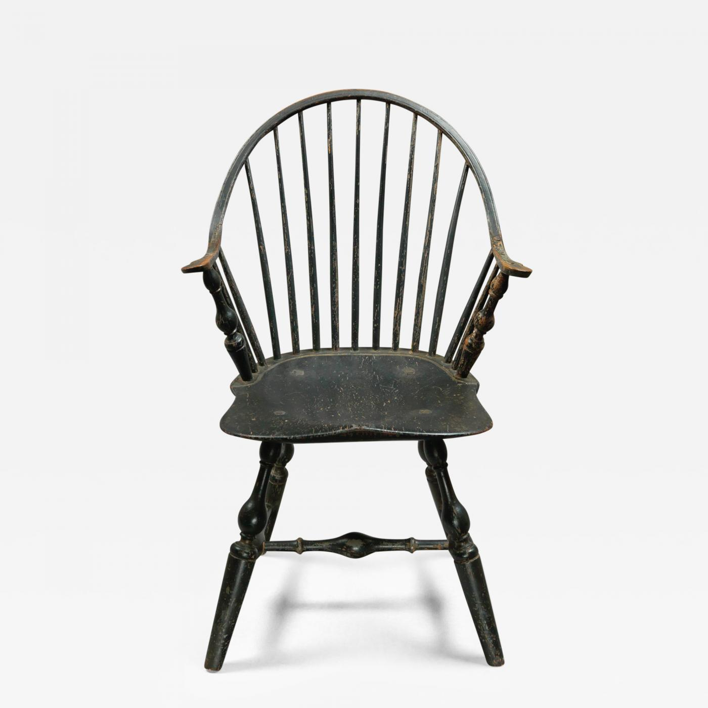 A Continuous Arm Windsor Chair. Tap To Expand