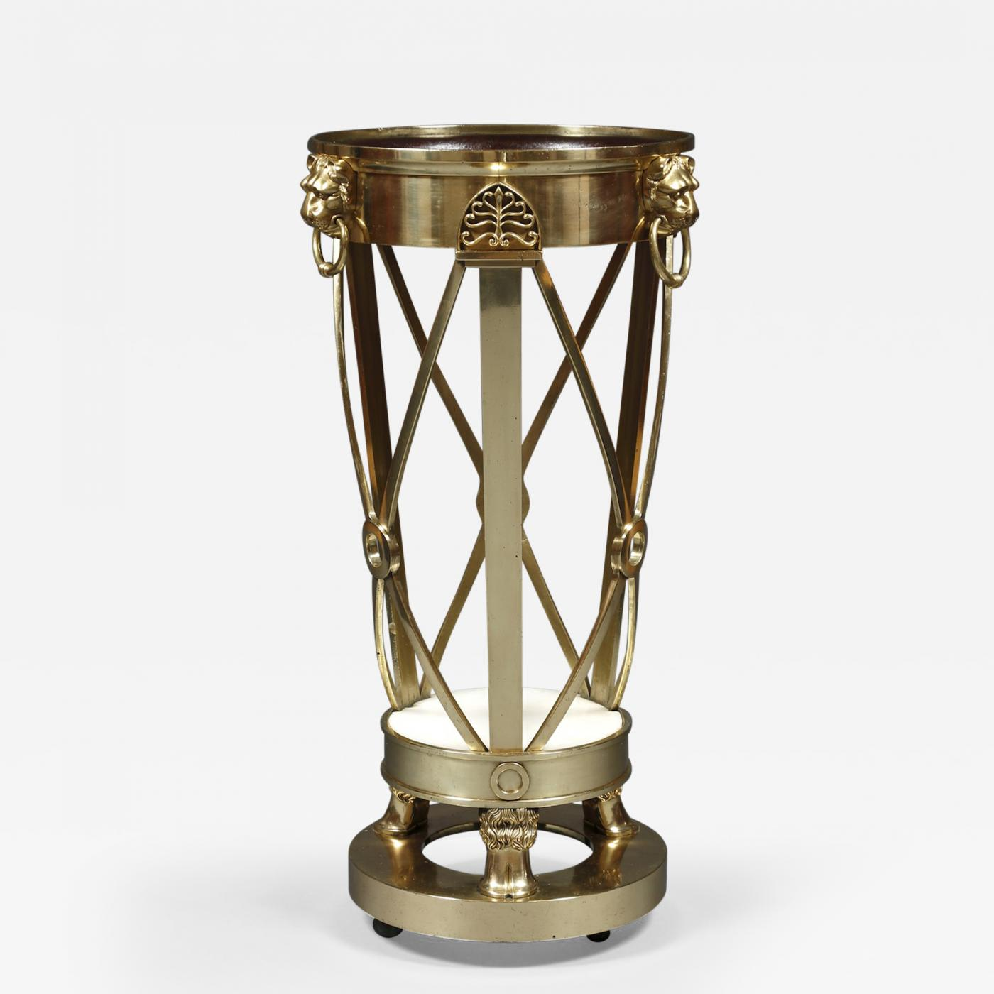 A Regency Gilt Brass Jardiniere Stand Closely Based On A Design By