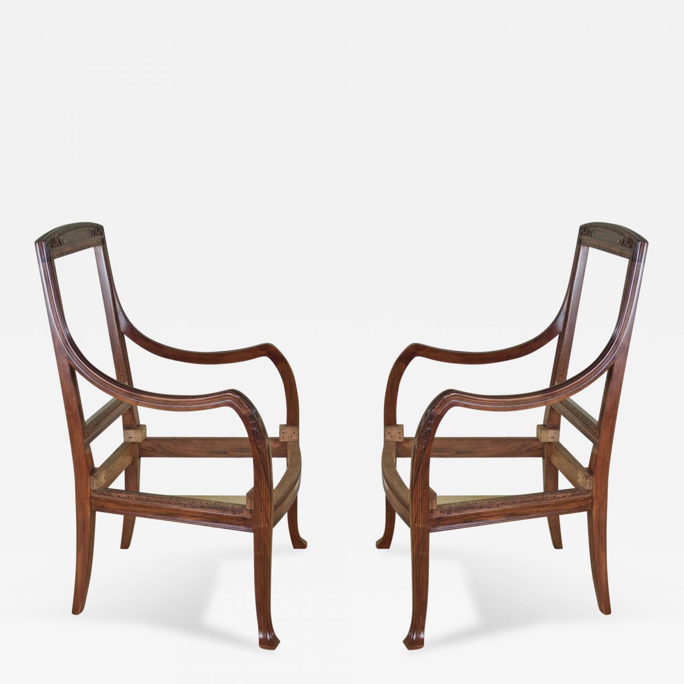 Abel Landry Pair Of Art Nouveau Armchairs