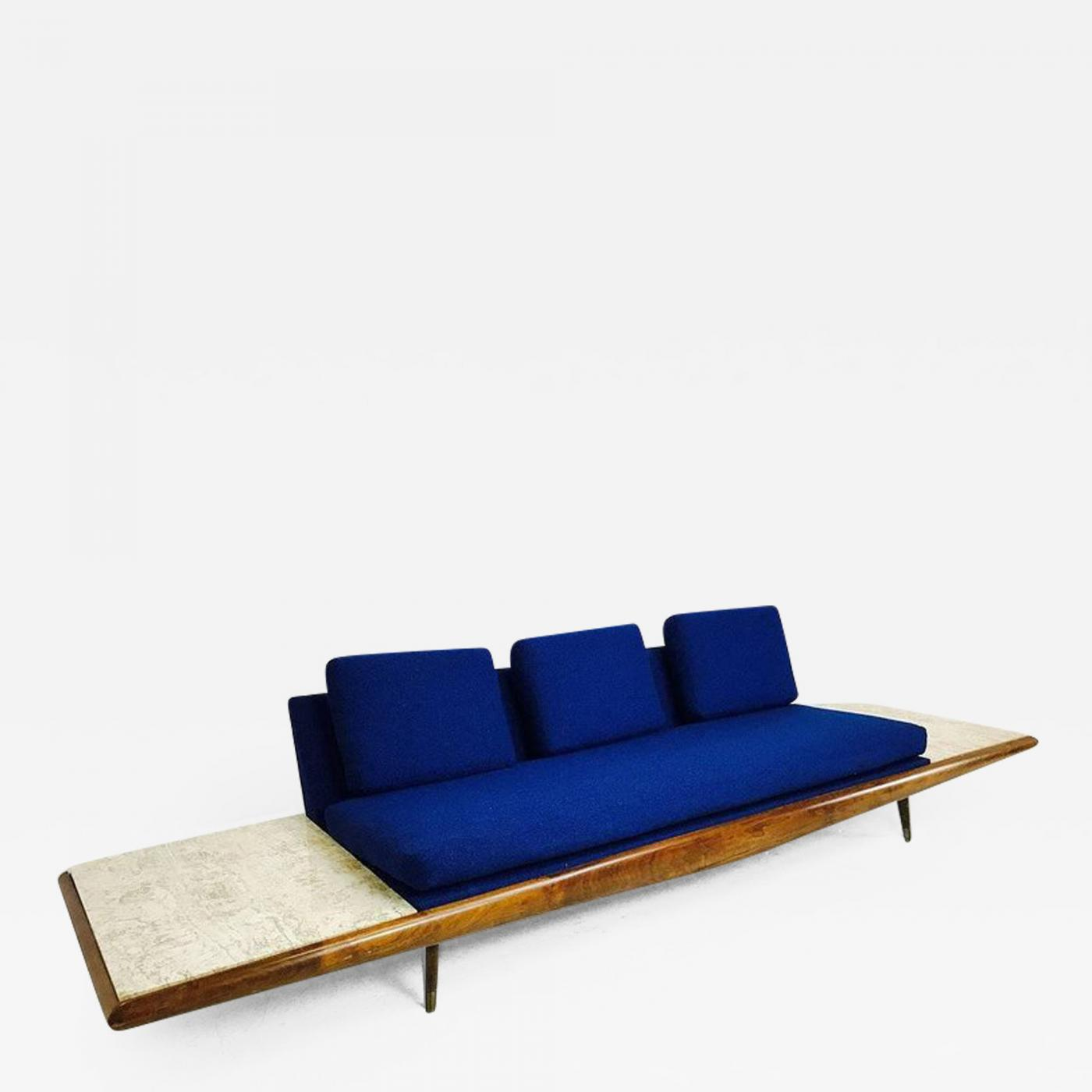 Amazing Adrian Pearsall Adrian Pearsall Sofa With Built In Travertine Side Tables Bralicious Painted Fabric Chair Ideas Braliciousco
