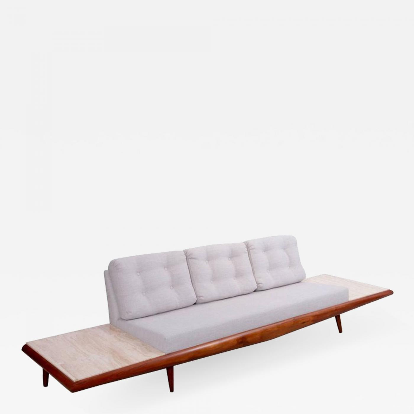 Astounding Adrian Pearsall Adrian Pearsall Sofa With Travertine Side Tables For Craft Associates Bralicious Painted Fabric Chair Ideas Braliciousco